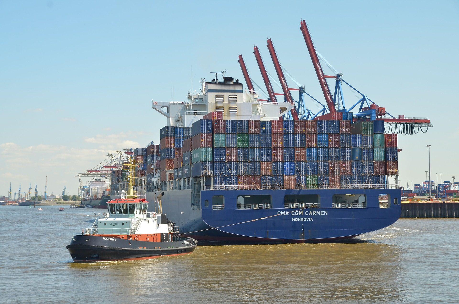 βάρκα, φορτηγό πλοίο, φορτίο, δοχεία, εμπόριο, Λιμάνι - Wallpapers HD - Professor-falken.com