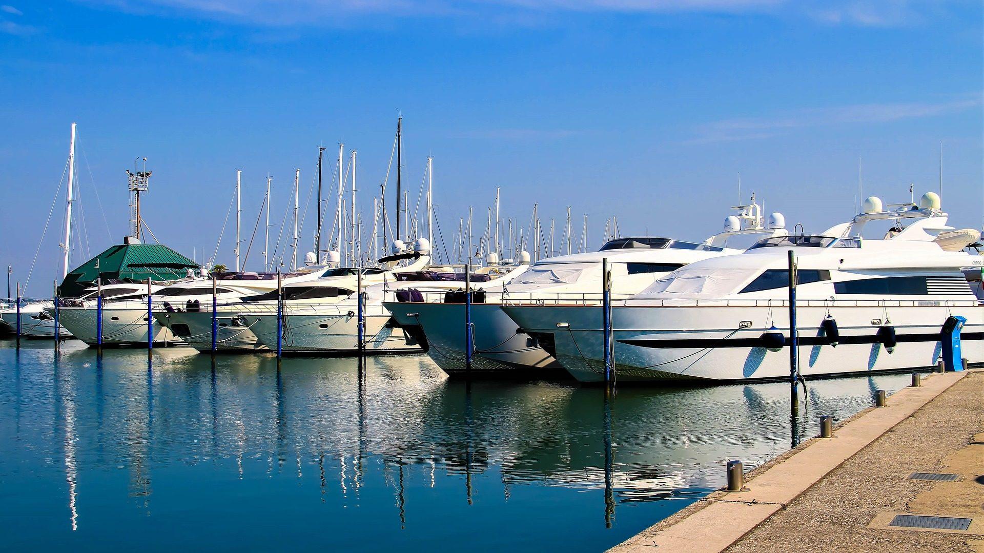 лодки, яхты, Порт, роскошь, отражение - Обои HD - Профессор falken.com