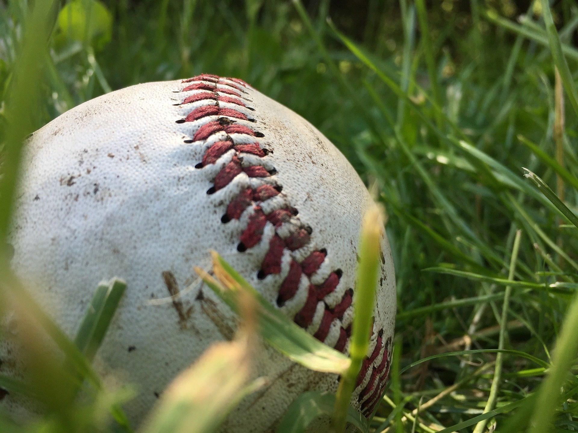 bola, bola, Basebol, solo, grama, campo - Papéis de parede HD - Professor-falken.com