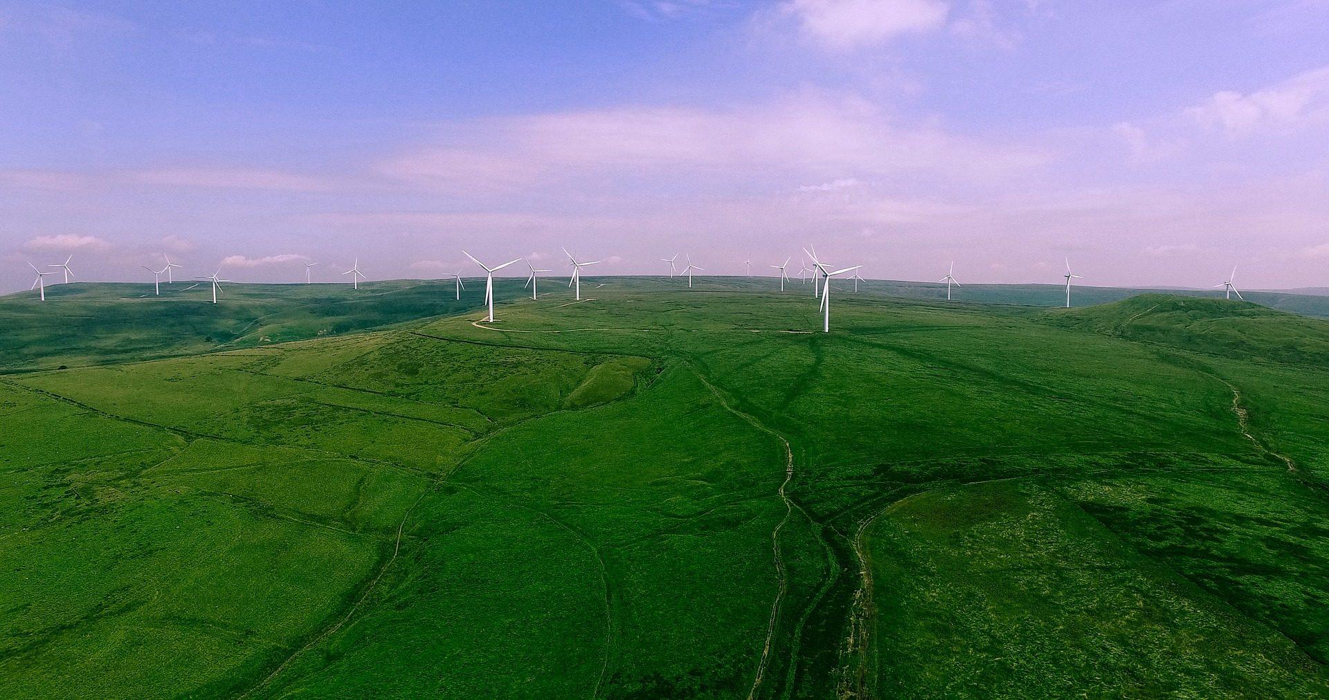 字段, 风电场, 螺旋桨, 米尔斯, 植被, 距离, 地平线 - 高清壁纸 - 教授-falken.com