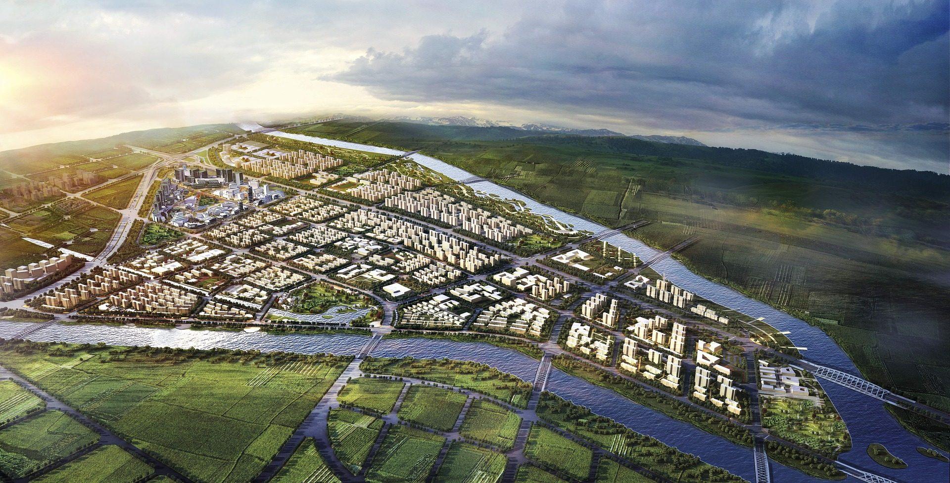 市, 住宅, 建物, モデル, シミュレーション, 飛行機 - HD の壁紙 - 教授-falken.com