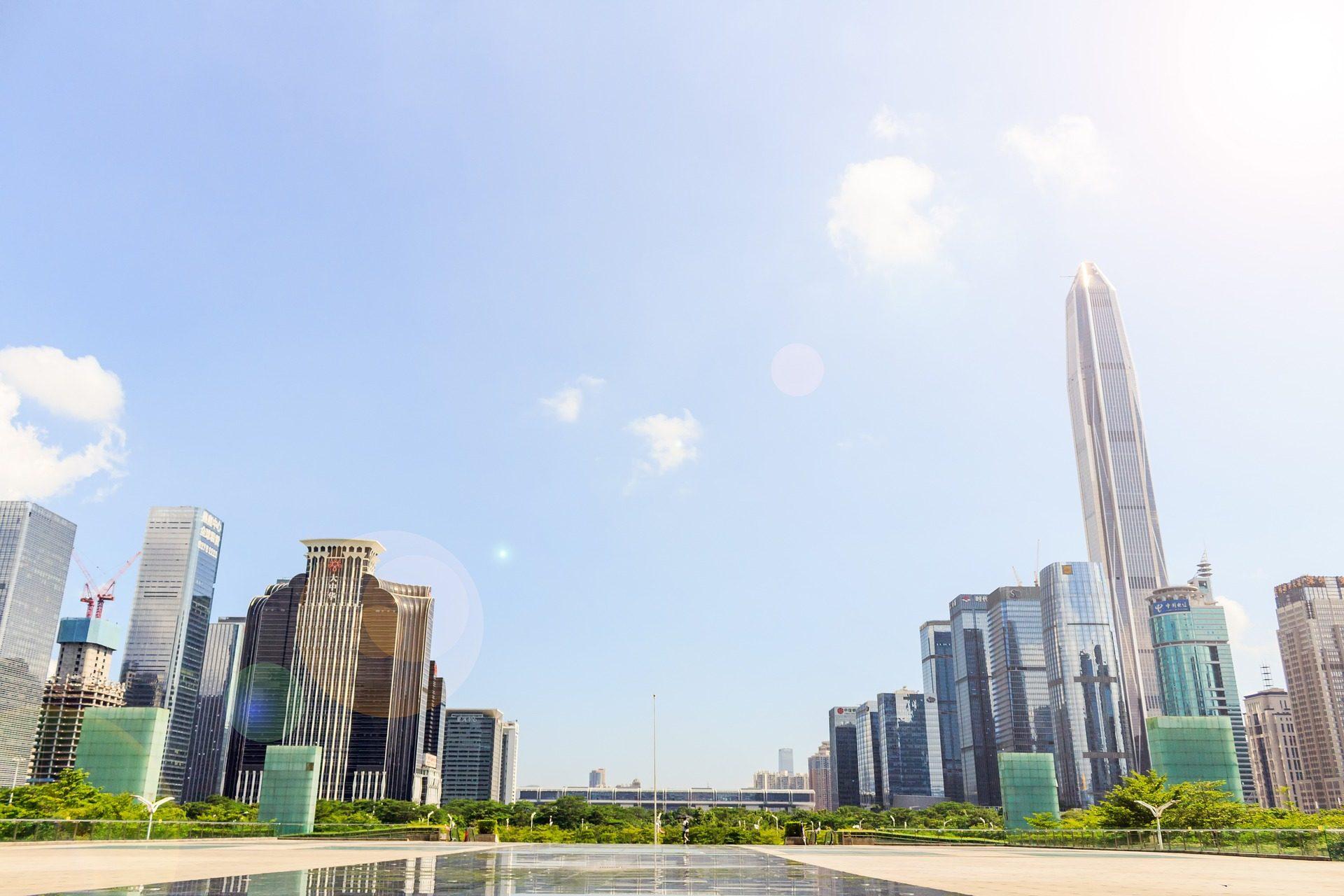 Город, небоскреб, здания, Шэньчжэнь, Китай - Обои HD - Профессор falken.com