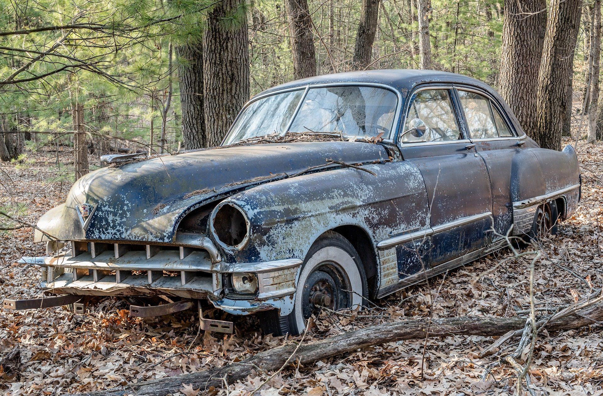 auto, antiguo, vecchio, vintage, abbandonato, foresta, alberi - Sfondi HD - Professor-falken.com