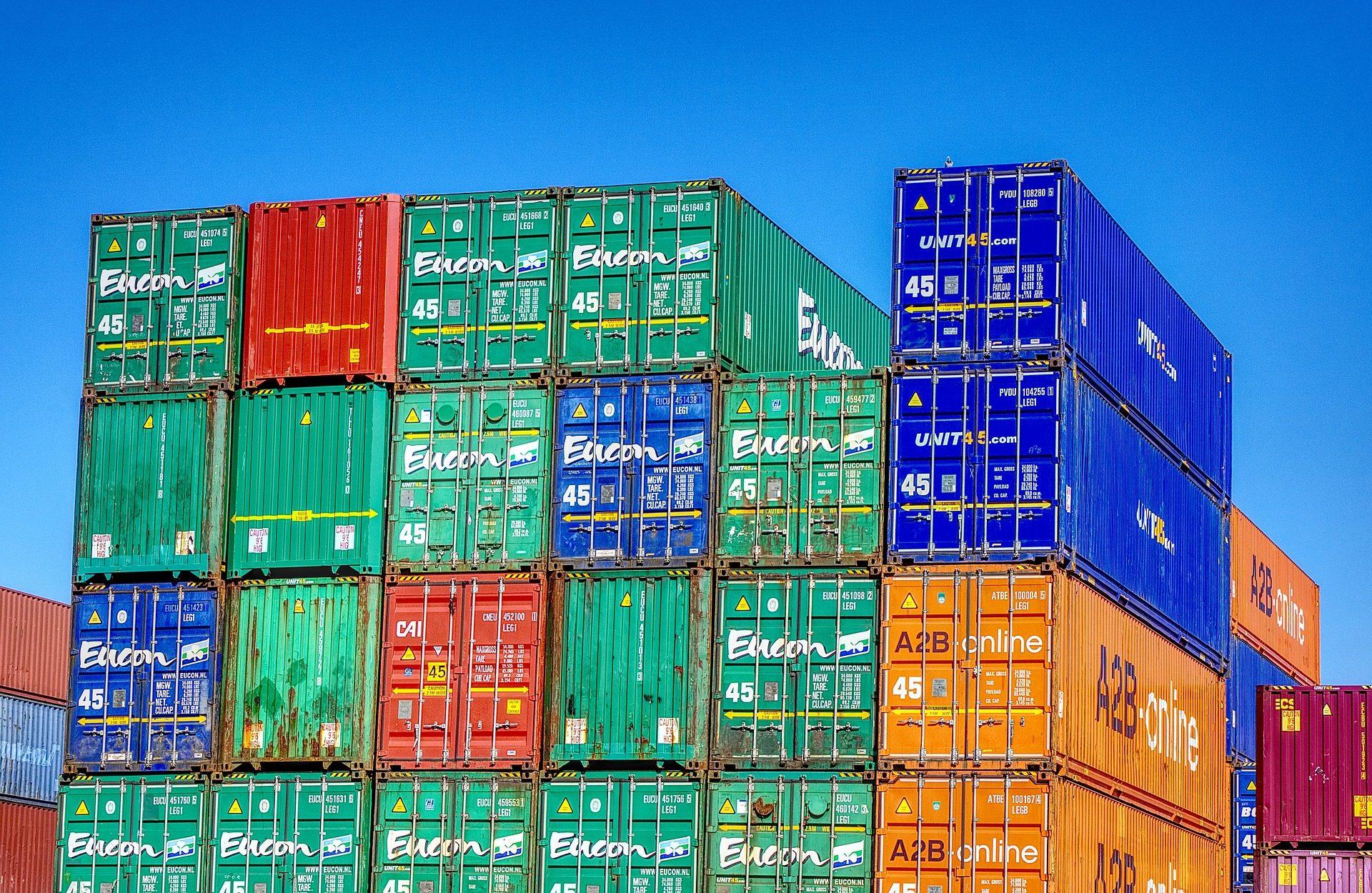 контейнеры, загрузить, с накоплением, Товары, Порт - Обои HD - Профессор falken.com