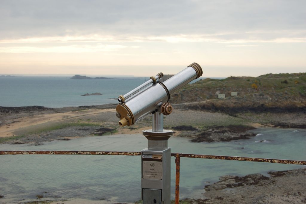 costa, mar, playa, mirador, telescopio, catalejos, horizonte, 1802241417