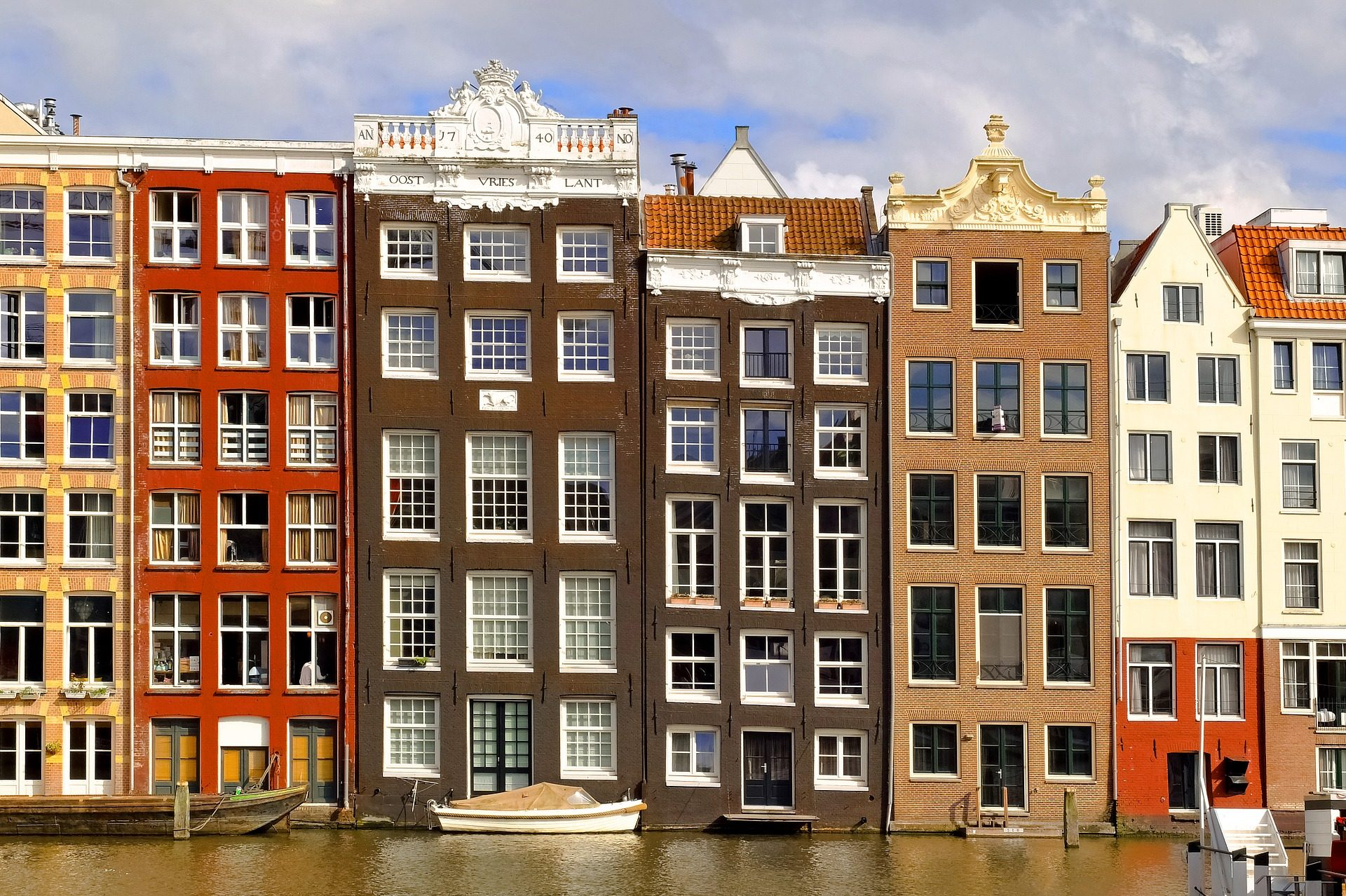 κτίρια, σπίτια, προσόψεις, πολύχρωμο, Άμστερνταμ, Ολλανδία - Wallpapers HD - Professor-falken.com