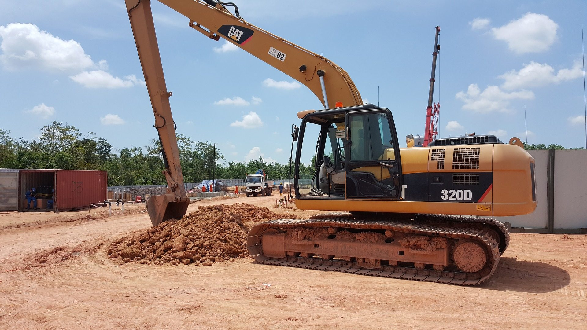 excavadora, máquina, construcción, obra, tierra - Fondos de Pantalla HD - professor-falken.com