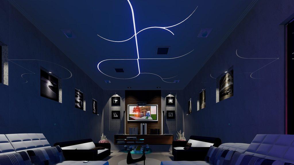 habitación, sala, salón, estancia, moderna, futurista, 1802240854