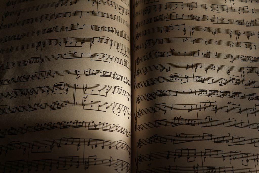 folhas, Livro, música da folha, notas musicais, Melodia, 1802120840