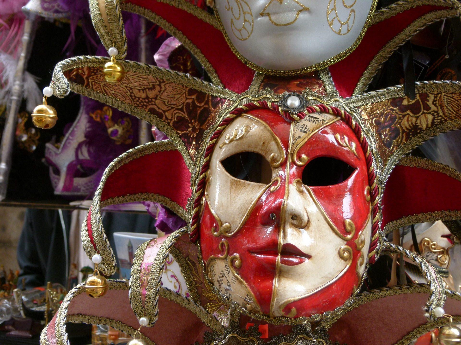 面具, 服装, 嘉年华, 饰品, 威尼斯 - 高清壁纸 - 教授-falken.com