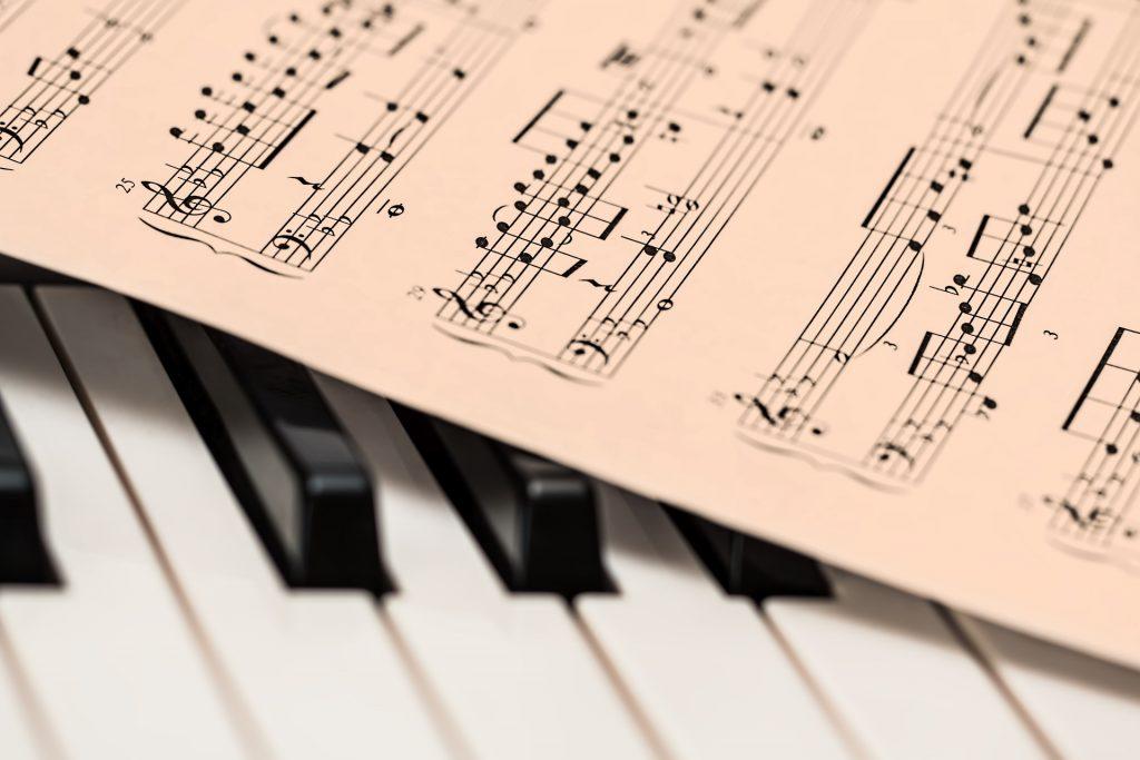 piano, música da folha, chaves, notas, pessoal, 1802270828