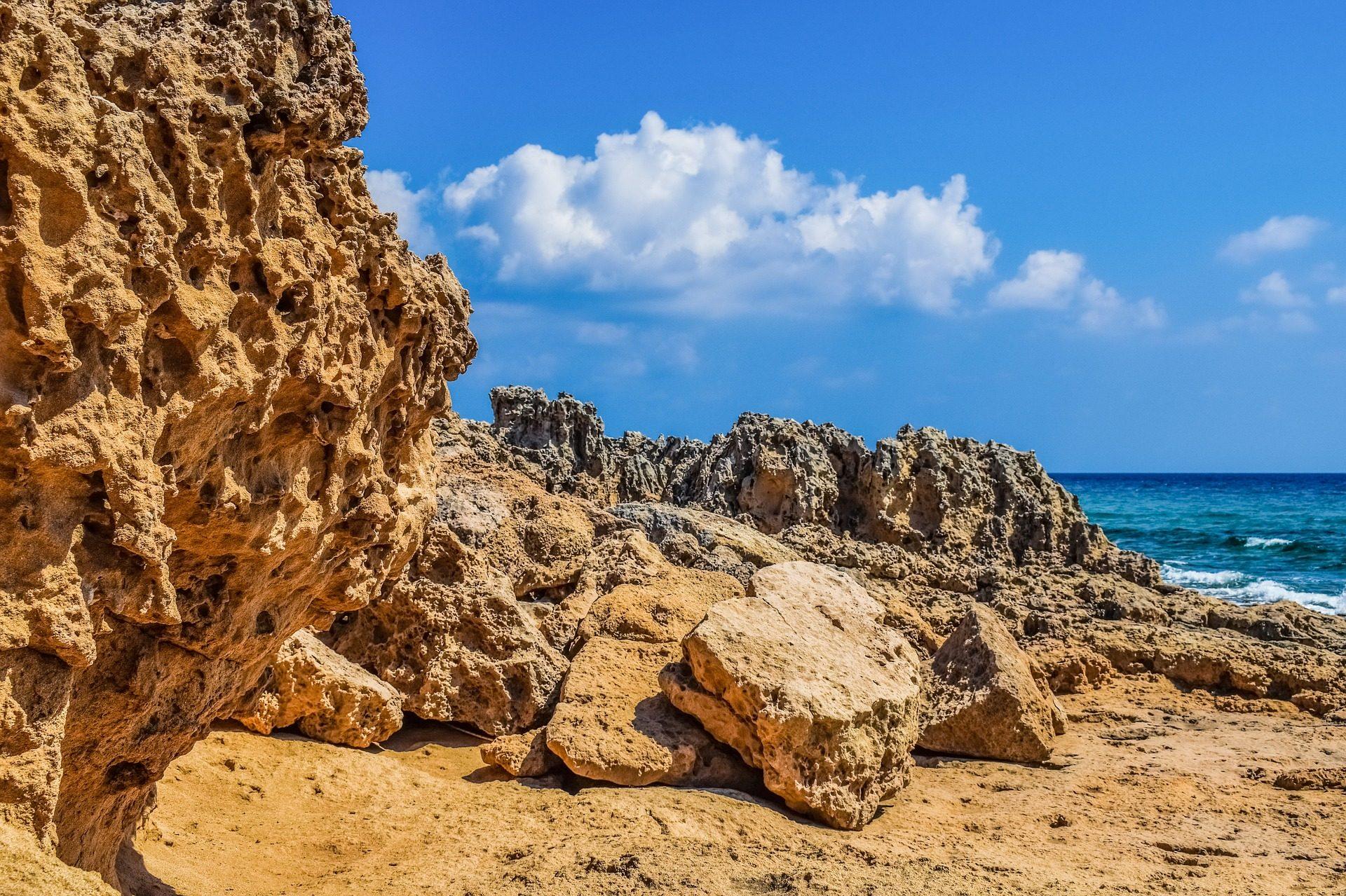 石头, 奥, 侵蚀, 培训, 海滩, 哥斯达黎加 - 高清壁纸 - 教授-falken.com