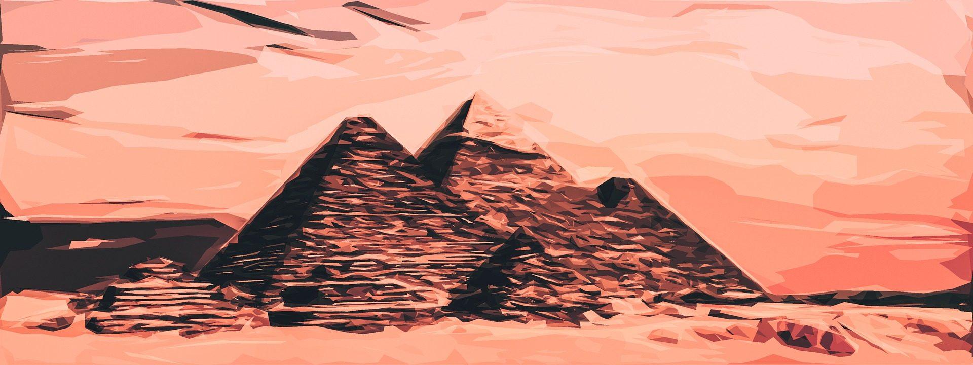 Pyramiden, Ägypten, Bild, Leinwand, Striche, Malerei - Wallpaper HD - Prof.-falken.com