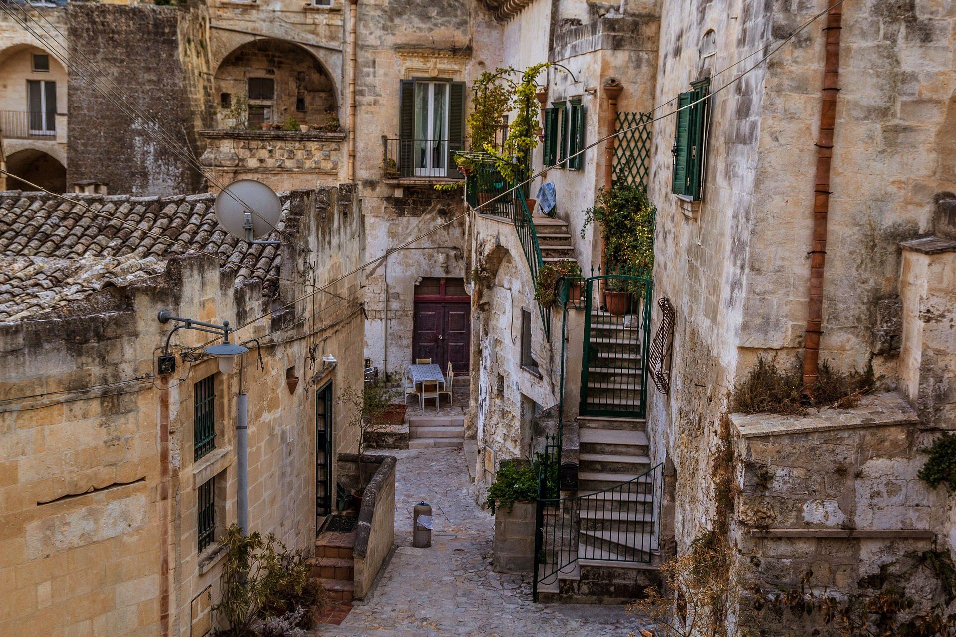村庄, 街道, 房屋, 古代, sassi, 马泰拉, 意大利 - 高清壁纸 - 教授-falken.com