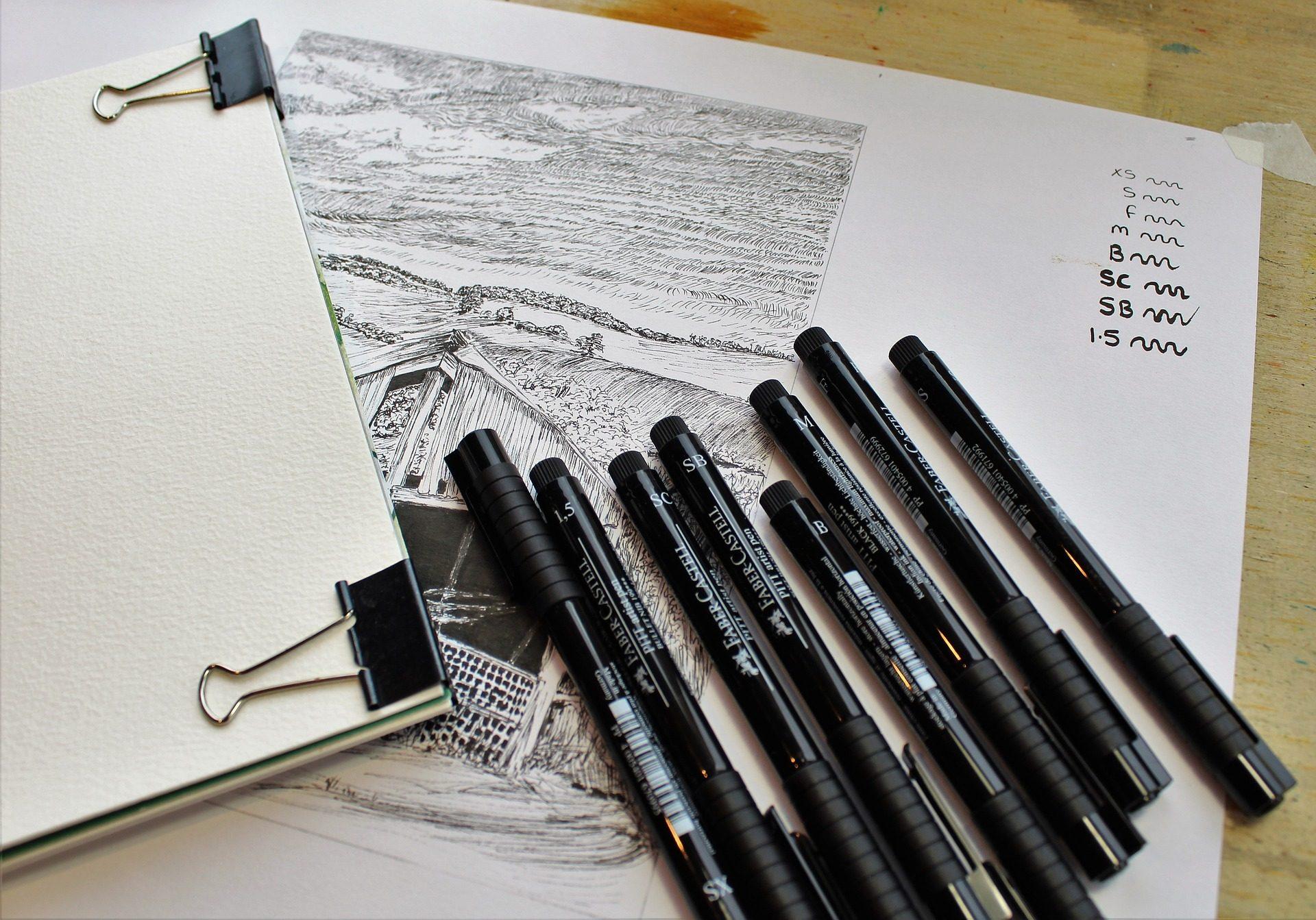 Filzstifte, Zeichnung, Diseño, Tinta, Papier, Kunst - Wallpaper HD - Prof.-falken.com