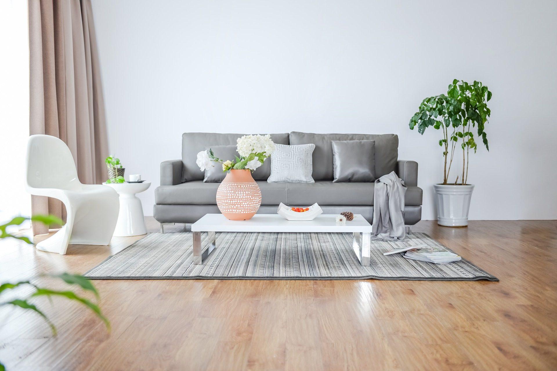Fondo de pantalla de sal n estancia sof silla mesa for Minimalismus im haushalt