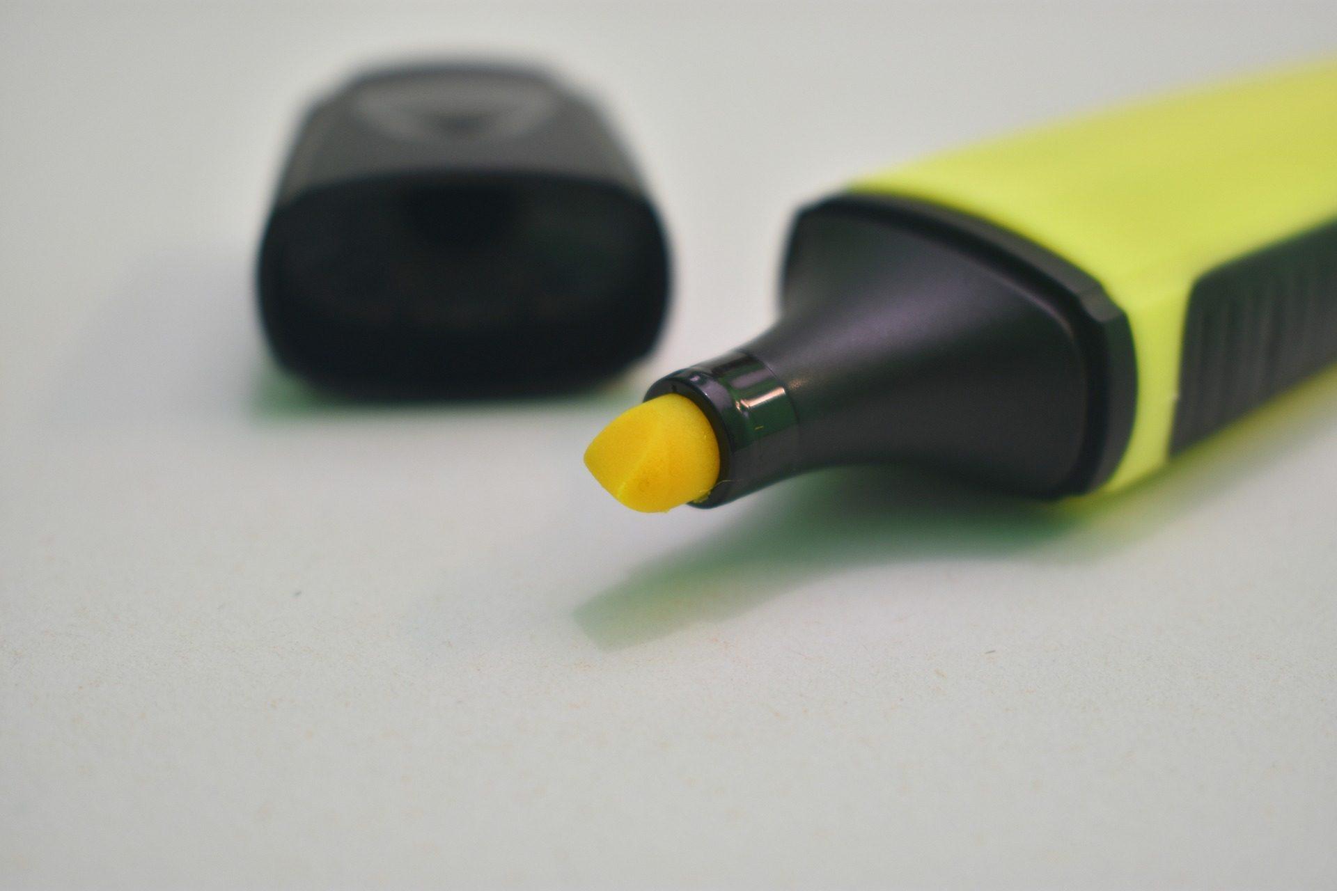 evidenziatore, pennarello per scrittura, marcatore, fluorescente, Tappo - Sfondi HD - Professor-falken.com