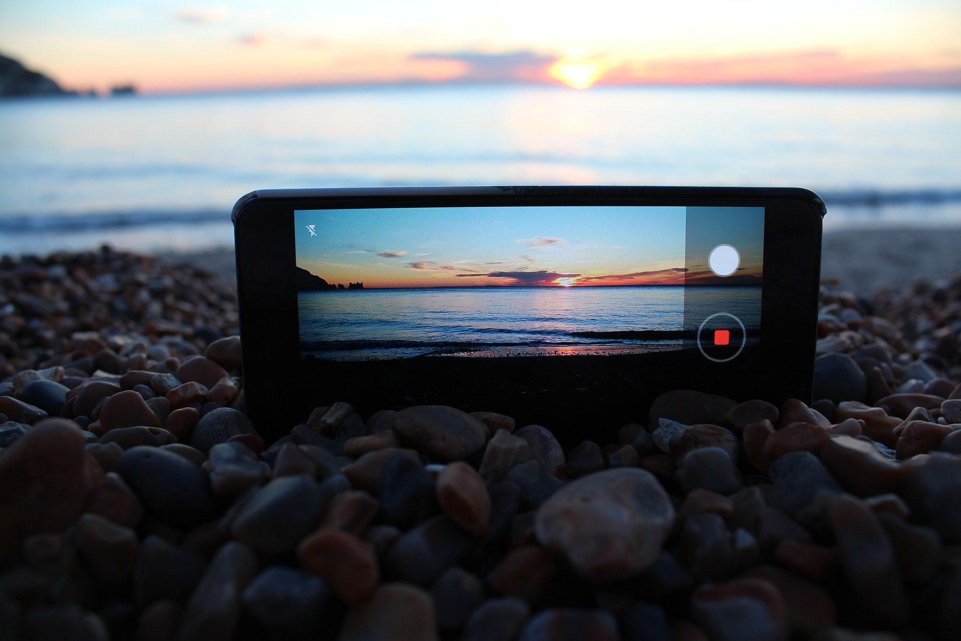 الهاتف, موبايل, الهاتف الذكي, الكاميرا, grabación, البحر - خلفيات عالية الدقة - أستاذ falken.com