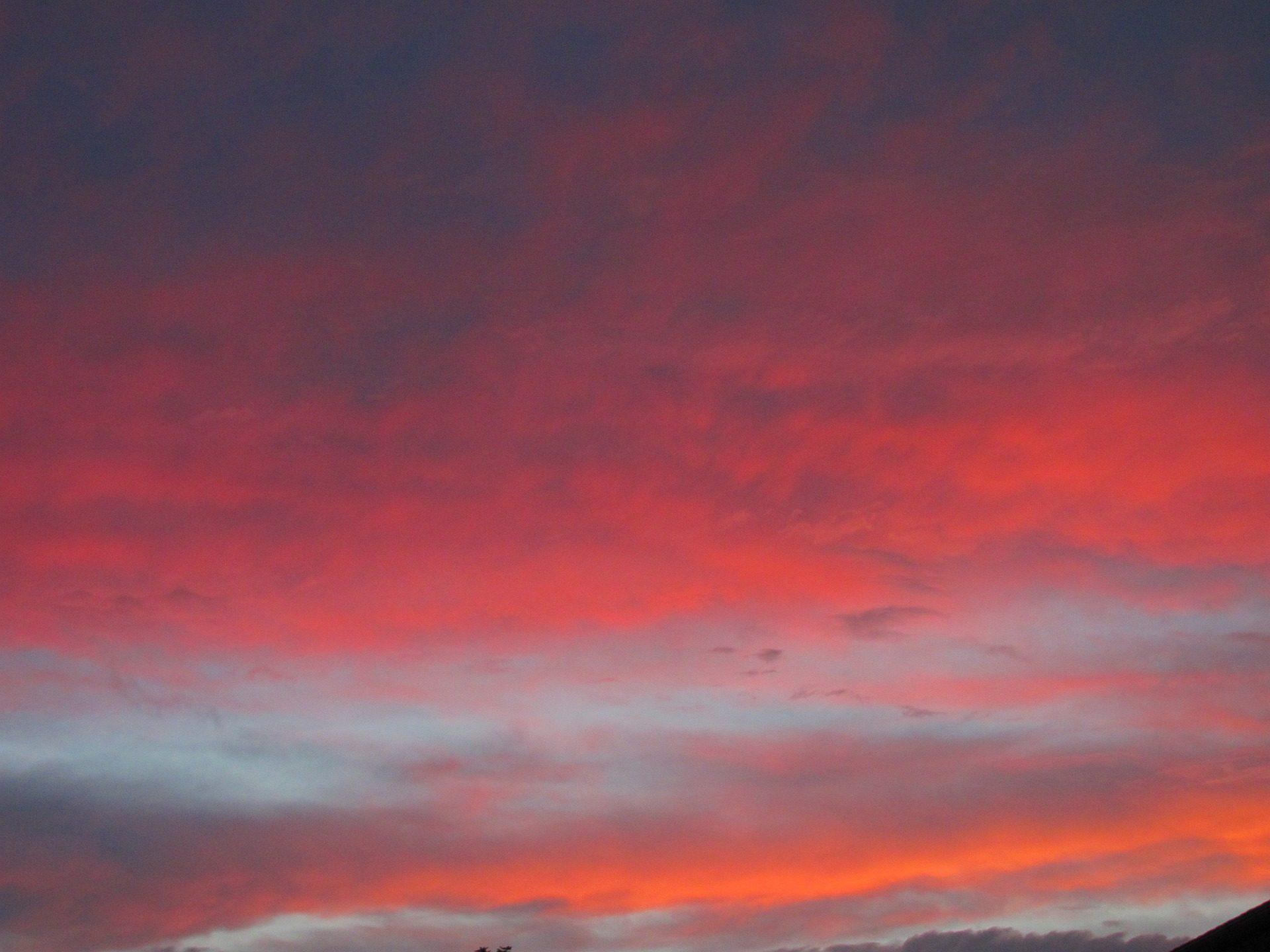 Himmel, Wolken, Sonnenuntergang, Rot, rötlich, Orange - Wallpaper HD - Prof.-falken.com
