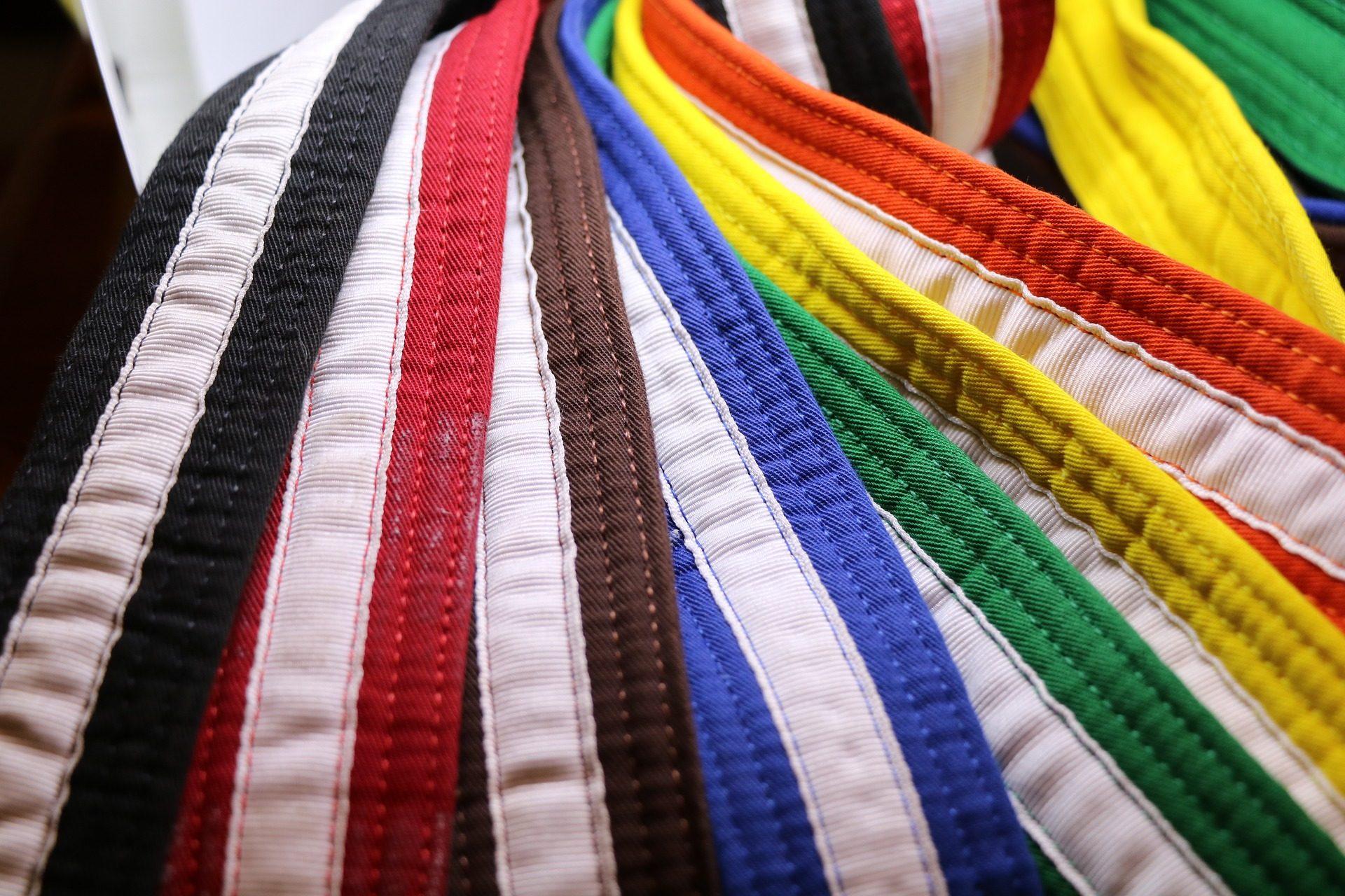 correias, colorido, Caratê, nível, habilidade - Papéis de parede HD - Professor-falken.com