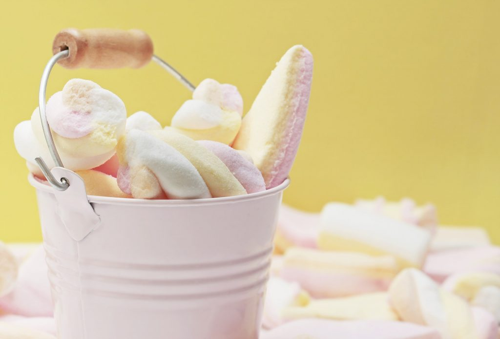 dulces, esponjitas, gomitas, chucherías, cubo, 1803052202