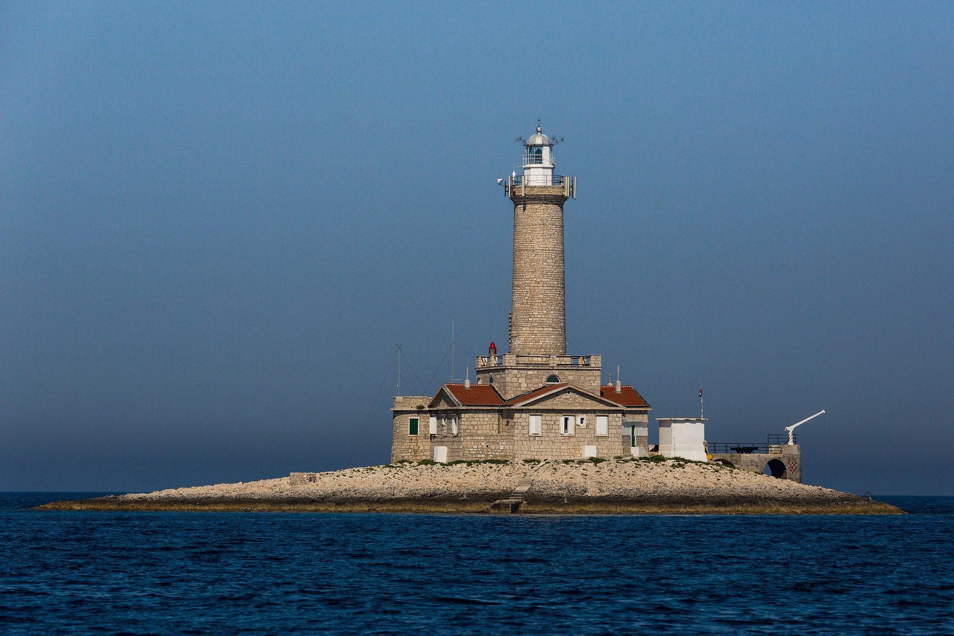 المنارة, الجزيرة, البحر, جزيرة ليلى, برج - خلفيات عالية الدقة - أستاذ falken.com