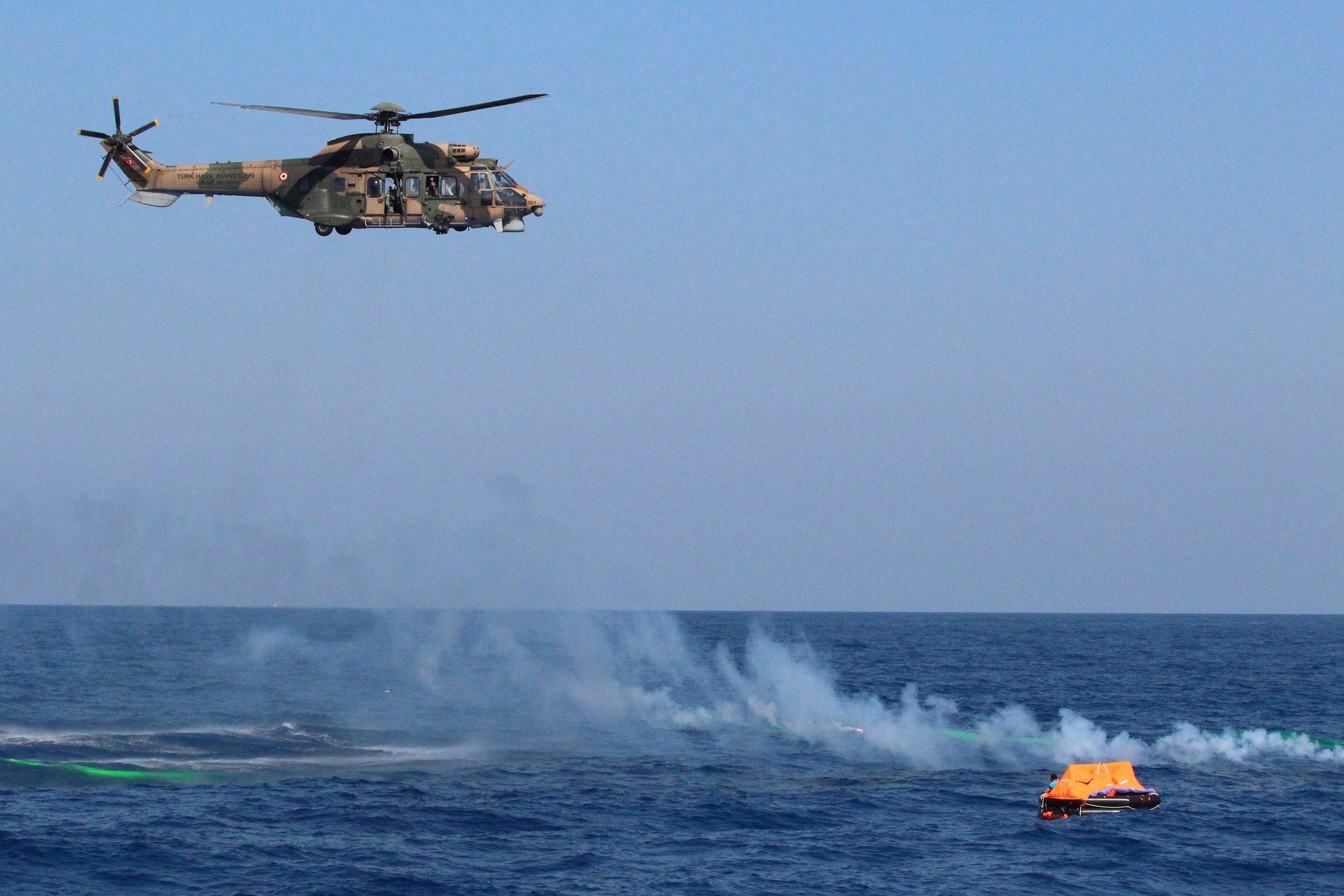 直升机, salvamento, 救援, 漂移, 海 - 高清壁纸 - 教授-falken.com
