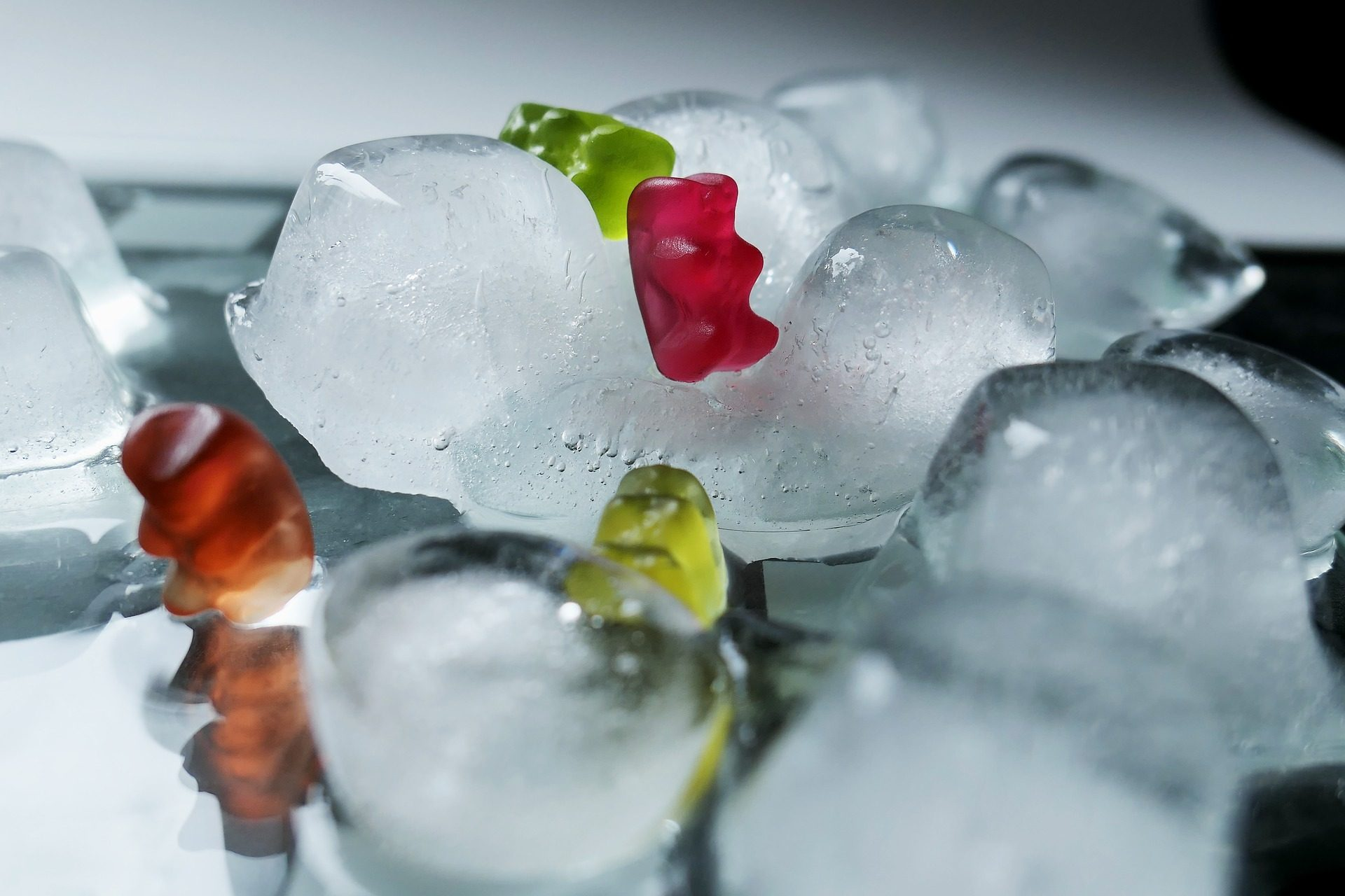 冰, 冰块, 泰迪熊, 软糖, 小玩意 - 高清壁纸 - 教授-falken.com