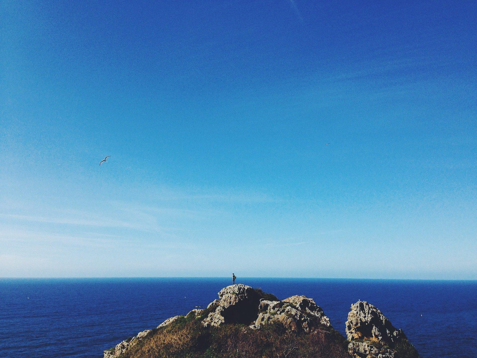 क्षितिज, महासागर, सागर, Roca, दूरी, व्यक्ति - HD वॉलपेपर - प्रोफेसर-falken.com