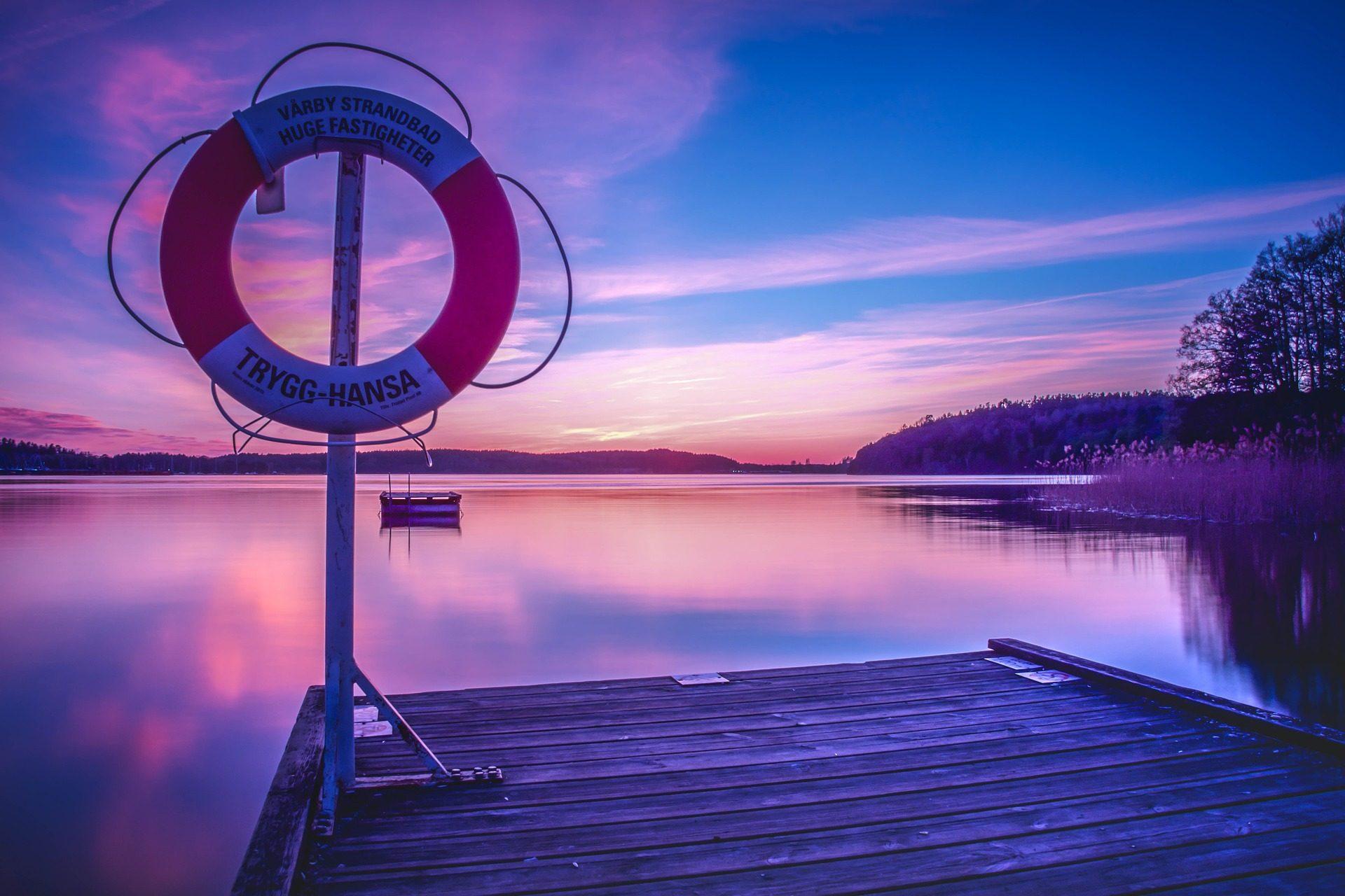 lago, muelle, salvavidas, flotador, barca, calma, serenidad - Fondos de Pantalla HD - professor-falken.com