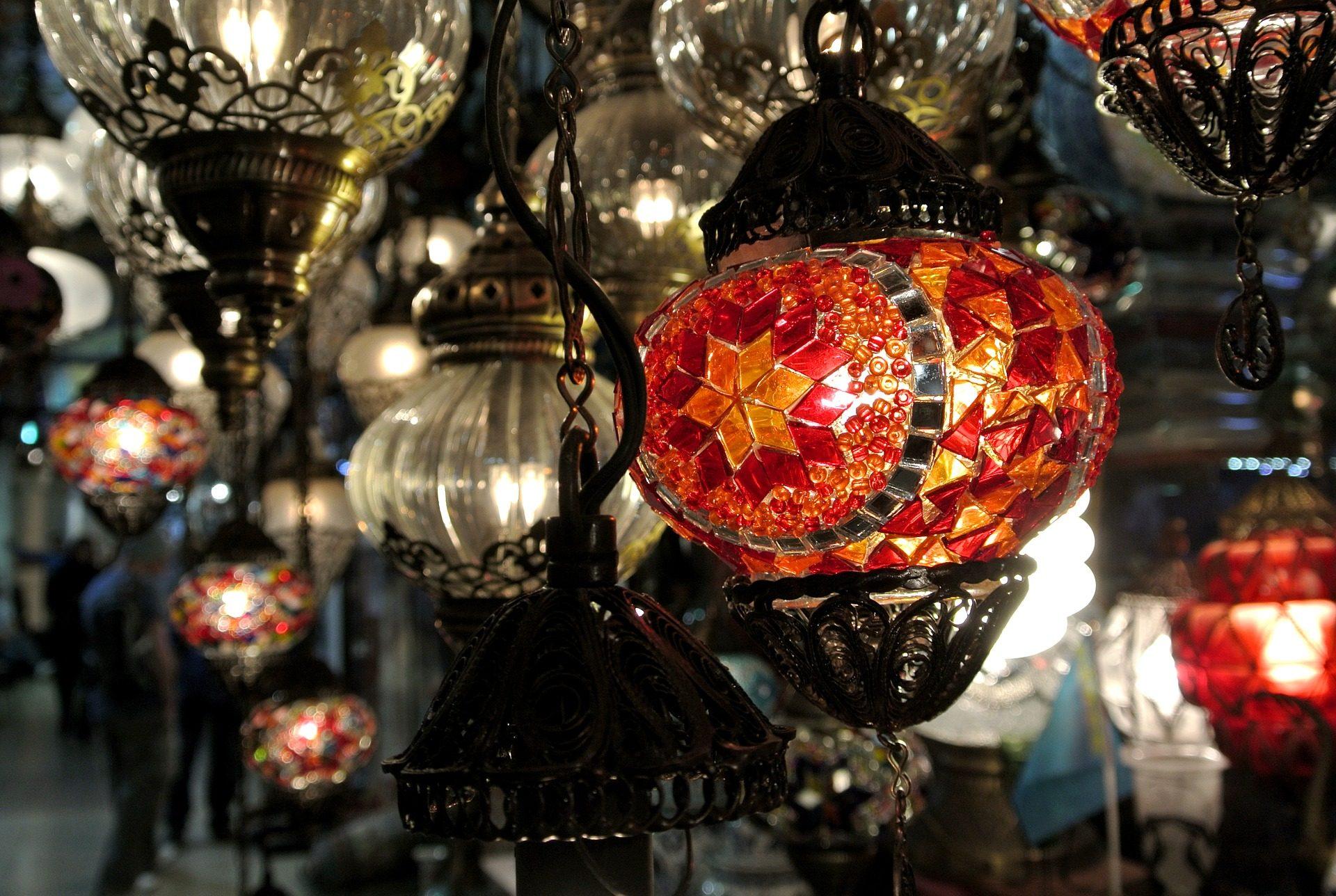 lámparas, cristal, vídrio, colorido, brillos, luces - Fondos de Pantalla HD - professor-falken.com