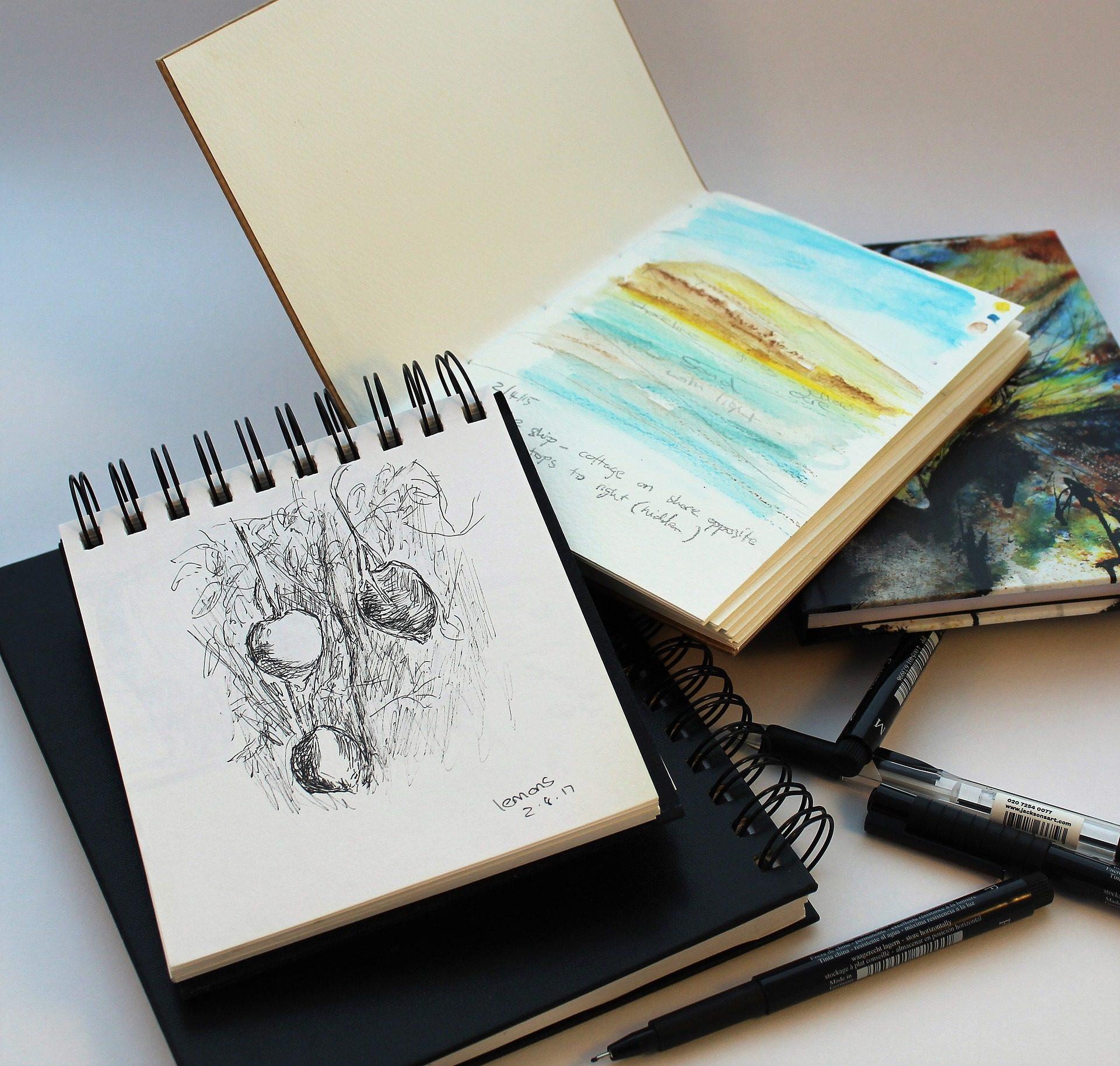 libretas, Notebook, schizzi, disegni, pennarelli - Sfondi HD - Professor-falken.com