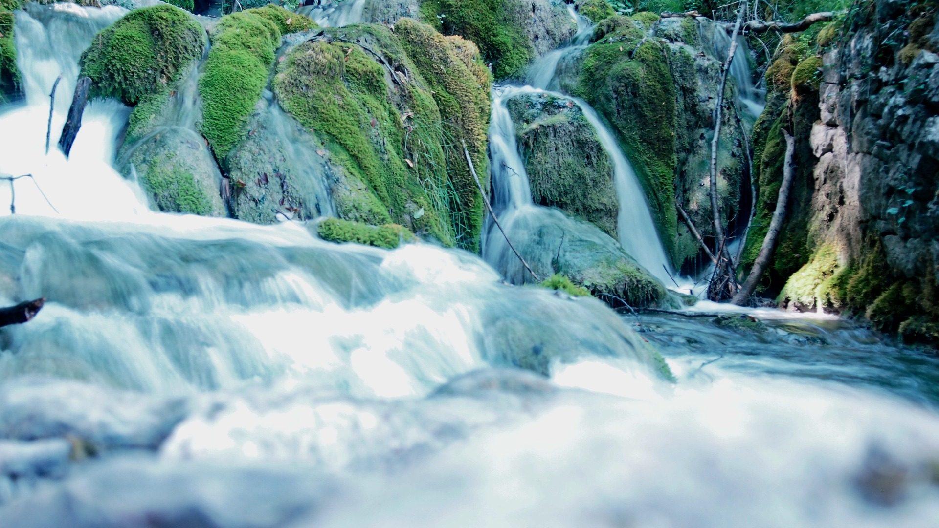 川, 尾側, 滝, 白内障, モス, 水 - HD の壁紙 - 教授-falken.com
