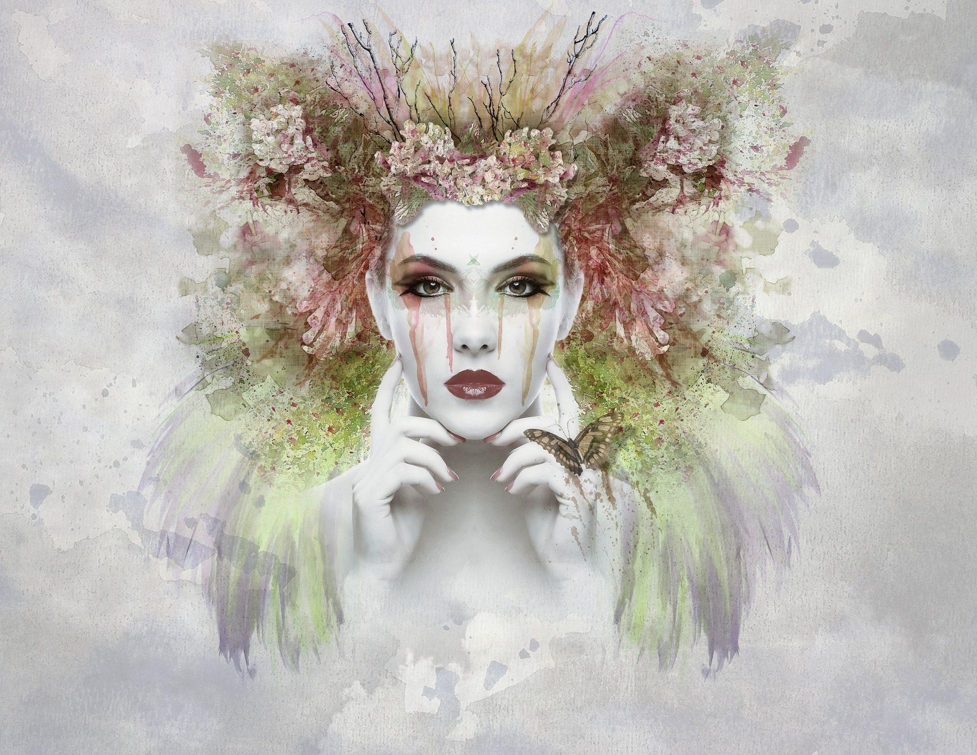 脸上, 女人, 化妆, 服装, 绘画, 艺术 - 高清壁纸 - 教授-falken.com