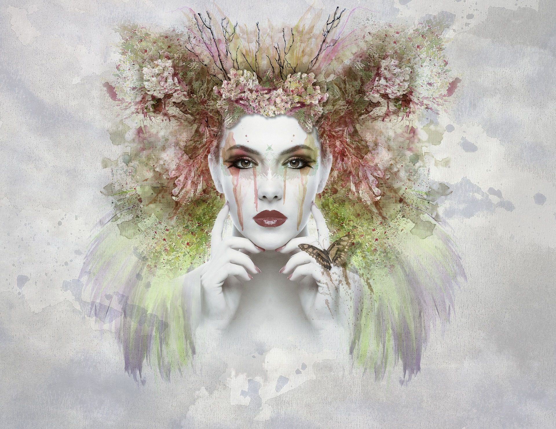 viso, donna, trucco, costume, pittura, arte - Sfondi HD - Professor-falken.com