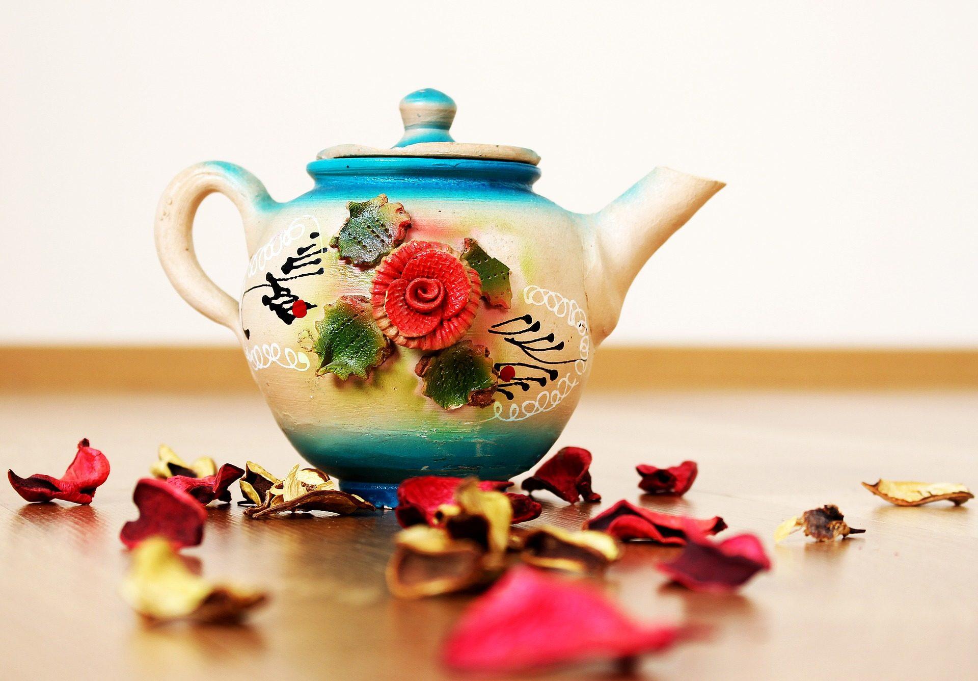 tetera, τσάι, φύλλα, διακόσμηση, σχέδια - Wallpapers HD - Professor-falken.com