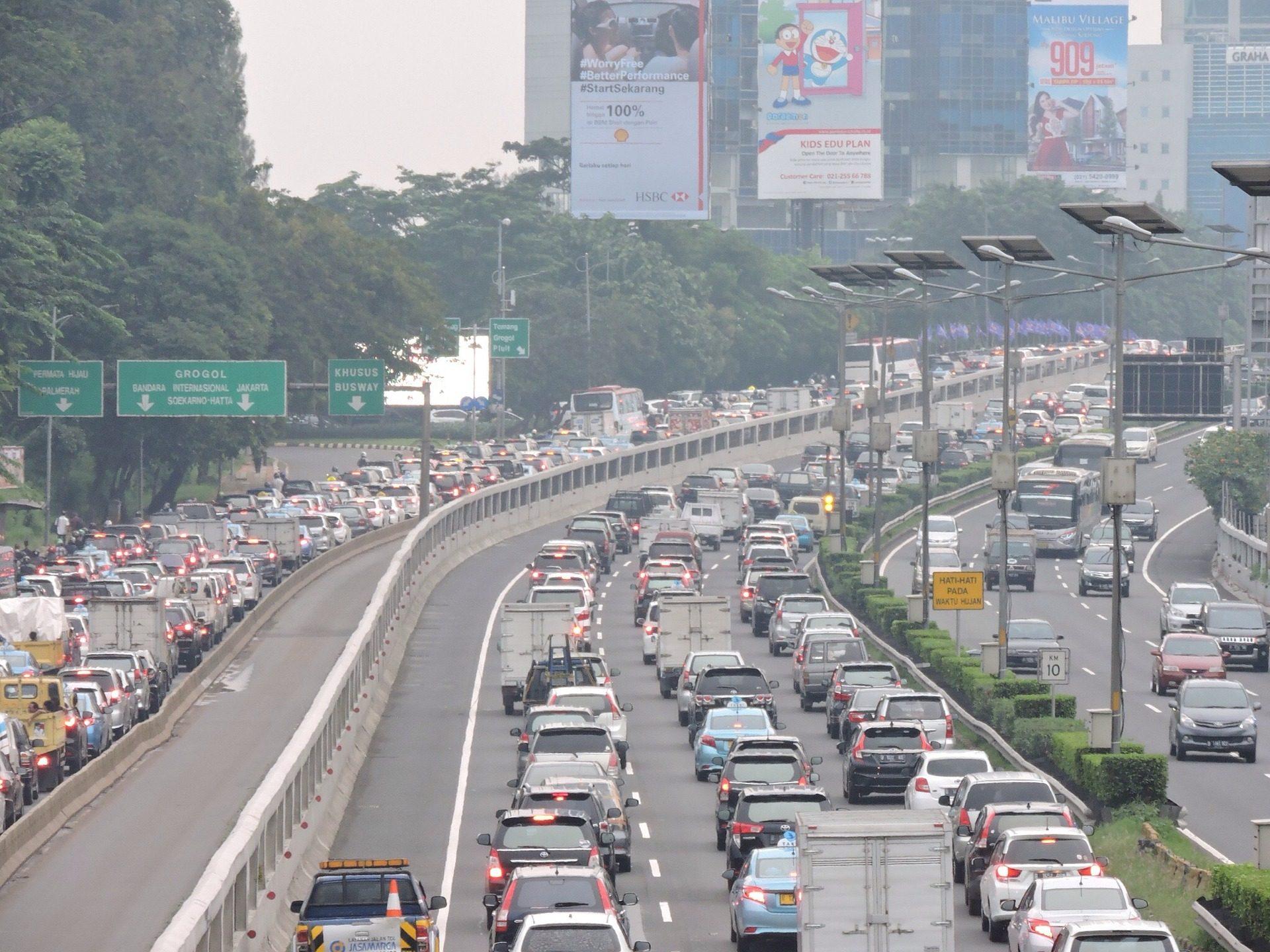 حركة المرور, مربي, قوائم الانتظار, تلوث, مدينة, التكتل - خلفيات عالية الدقة - أستاذ falken.com