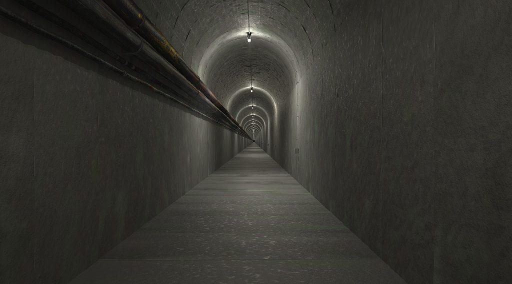 túnel, pasadizo, solitario, oscuro, búnquer, 1803241931