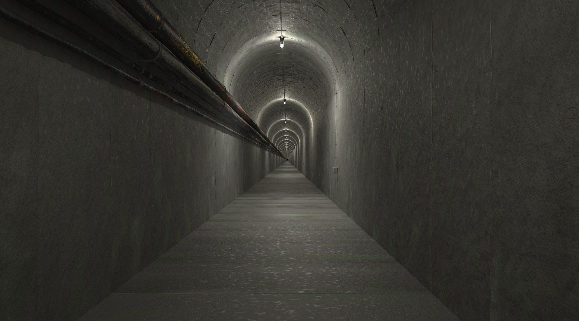 туннель, проход, соло, Темный, бункер - Обои HD - Профессор falken.com