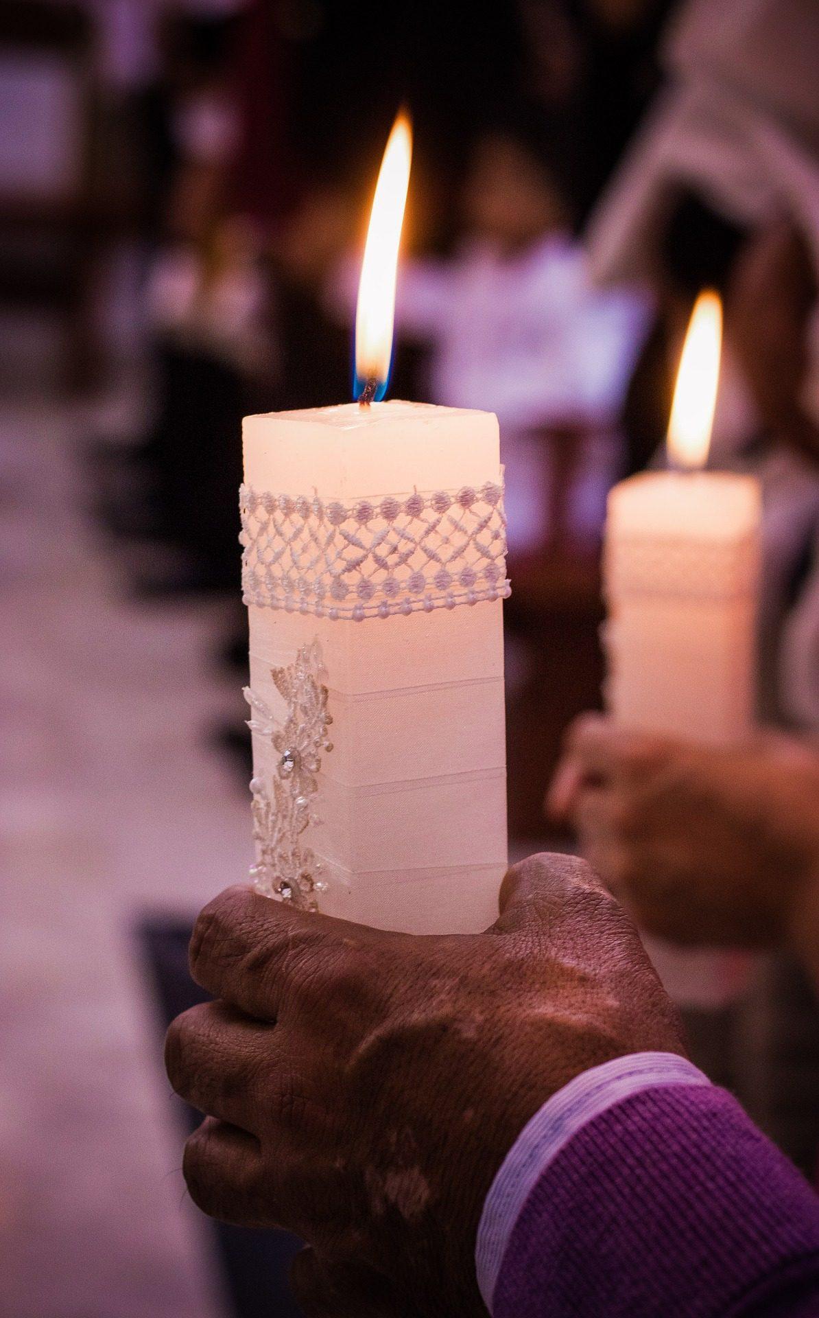 الشموع, الشعلة, شمع, أيدي, الحرارة, الحريق - خلفيات عالية الدقة - أستاذ falken.com