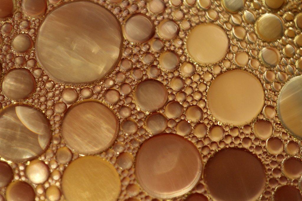aceite, agua, densidad, viscosidad, burbujas, 1804031150