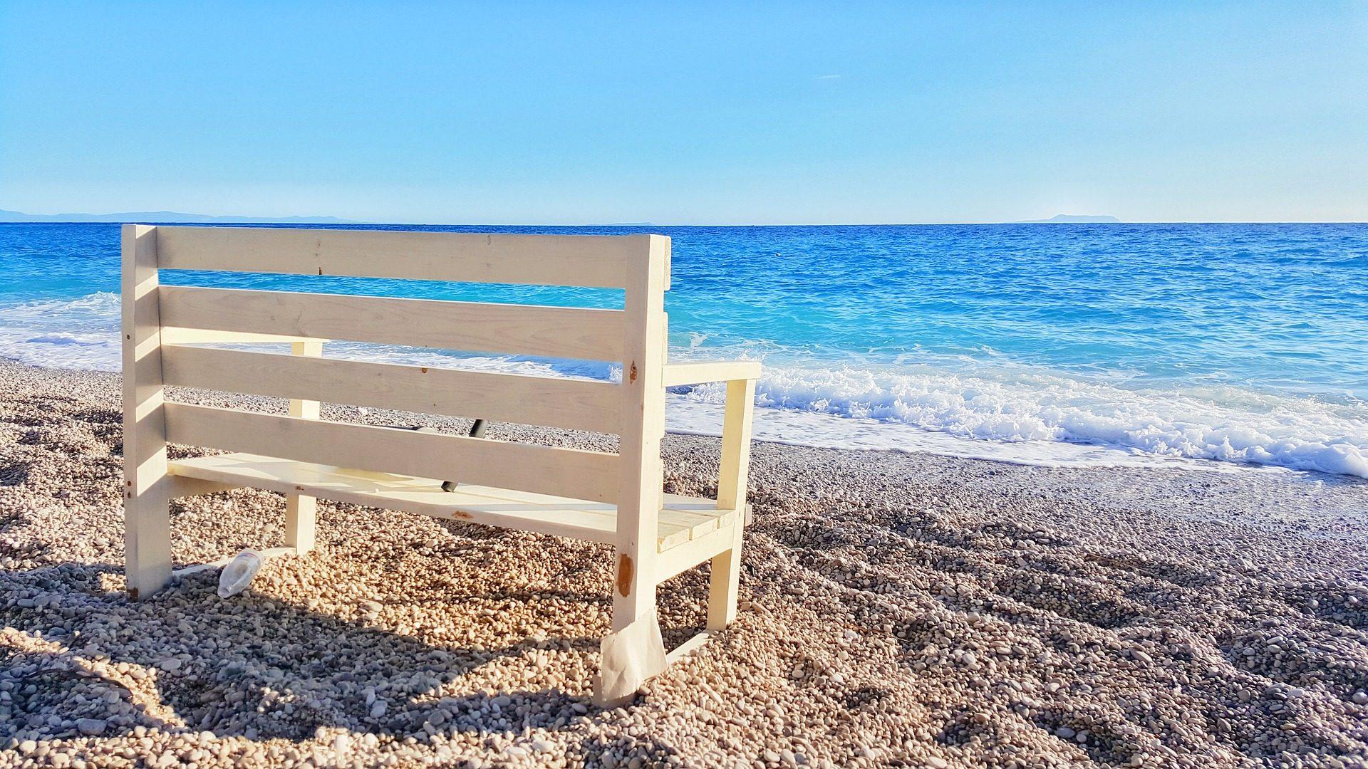 Banco, madeira, Praia, Costa, pedras, ondas, Mar - Papéis de parede HD - Professor-falken.com