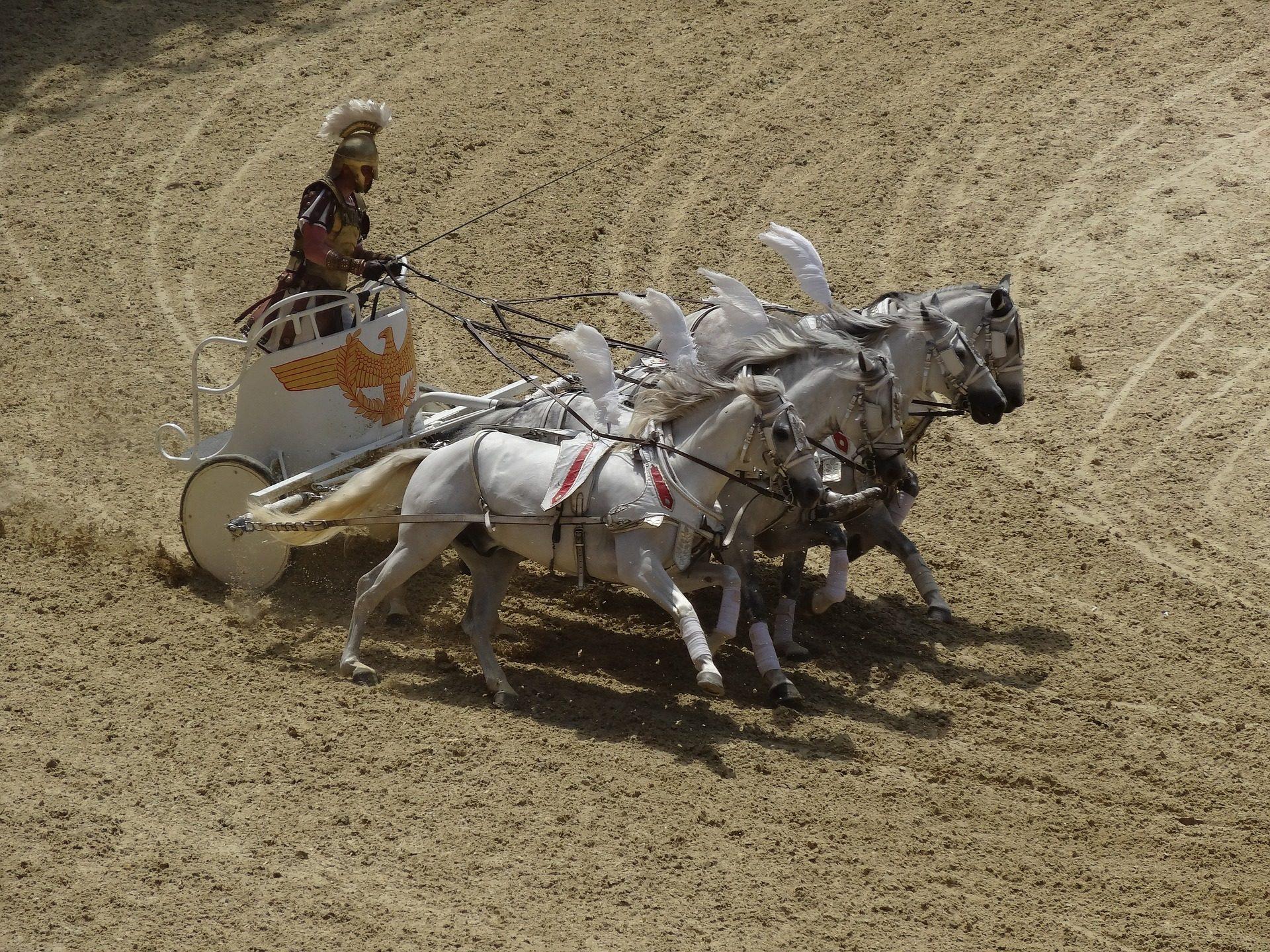 carrera, caballos, cuádriga, romana, antigua, competición - Fondos de Pantalla HD - professor-falken.com