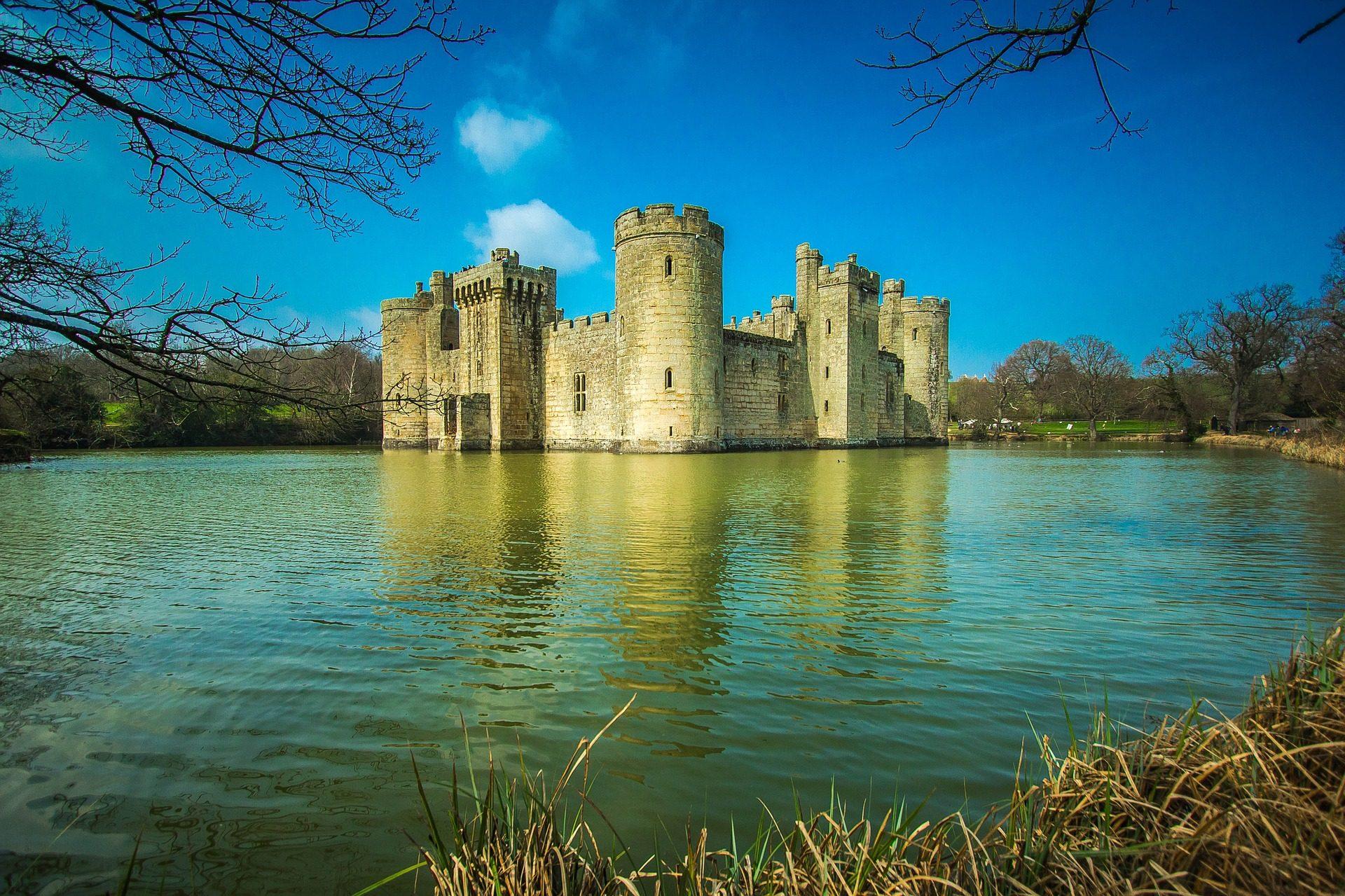 Château, Forteresse, Lake, Bodiam, L'Angleterre - Fonds d'écran HD - Professor-falken.com
