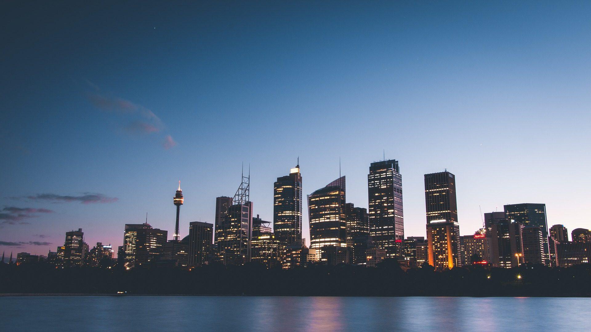 城市, 建筑, 摩天大楼, 天际线, 灯, 日落 - 高清壁纸 - 教授-falken.com