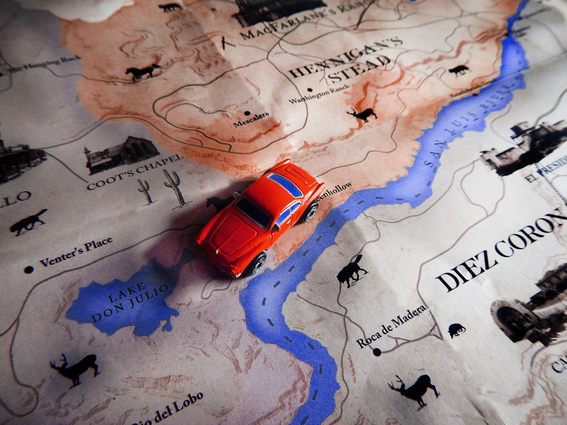 voiture, Jouet, carte, voyage, Aventure - Fonds d'écran HD - Professor-falken.com