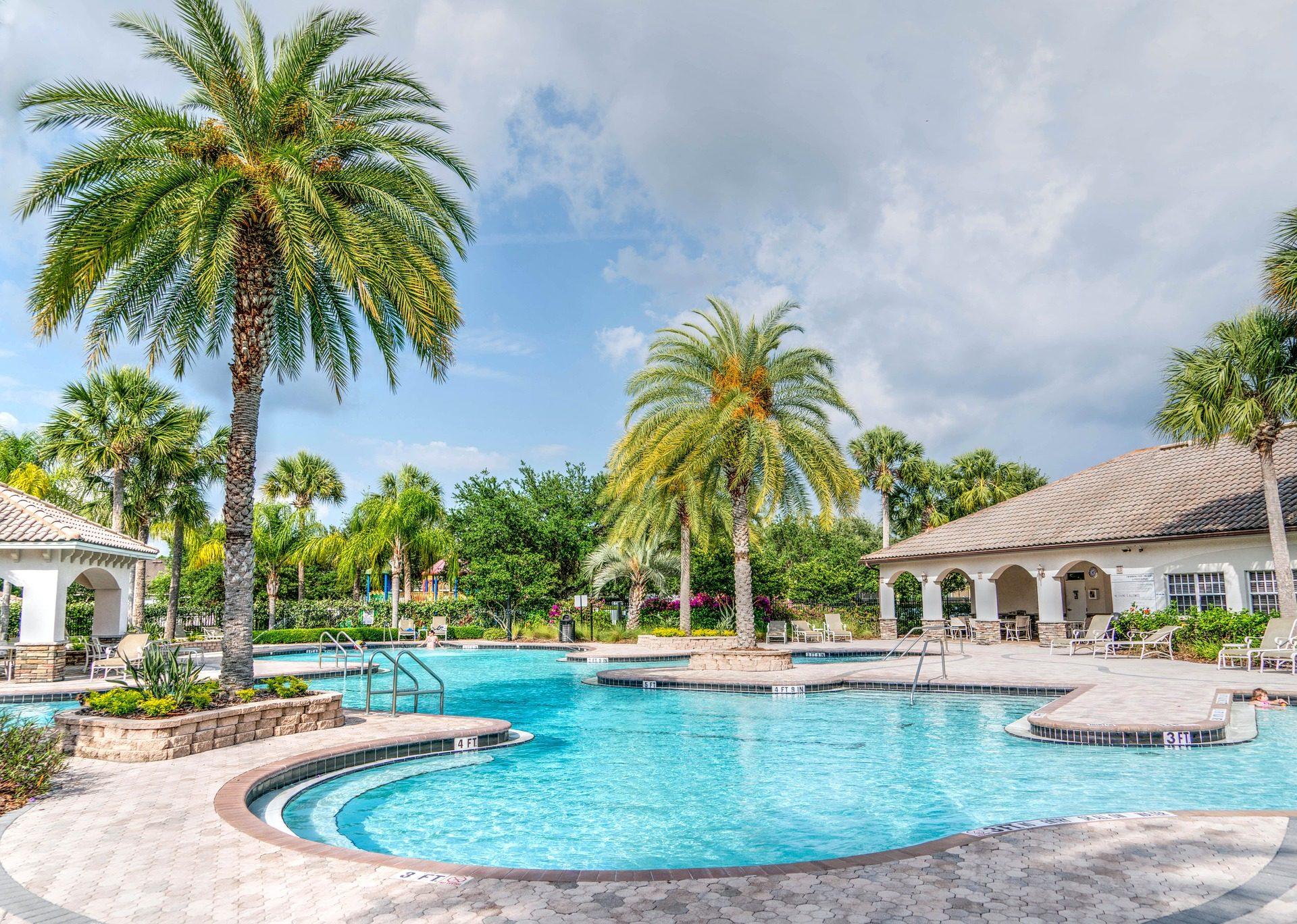 komplexen, Urlaub, Palmen, Pool, Resort, Entspannen Sie sich - Wallpaper HD - Prof.-falken.com