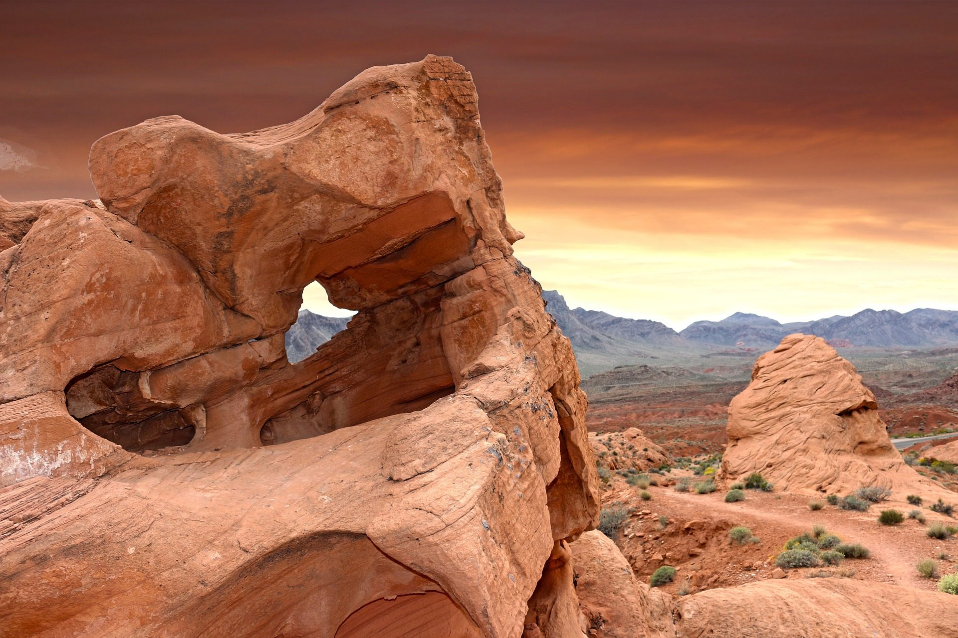 रेगिस्तान, पत्थर, Rocas, कटाव, आग की घाटी, वेगास - HD वॉलपेपर - प्रोफेसर-falken.com