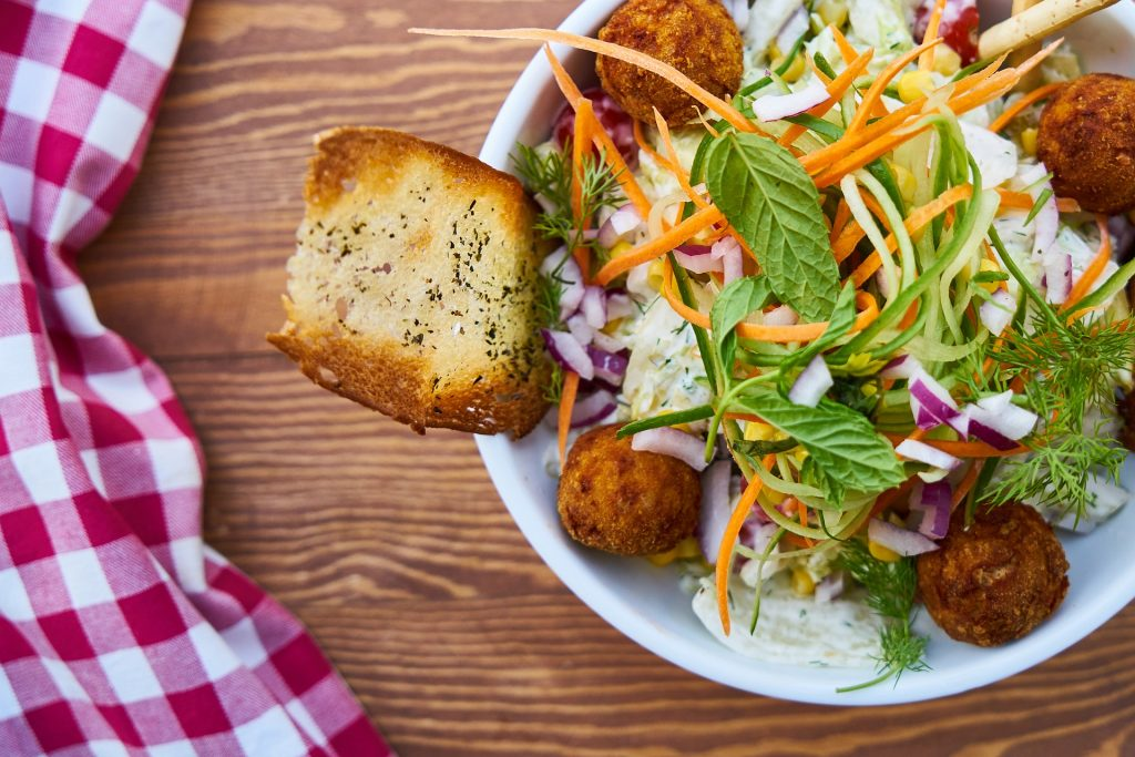 沙拉, 面包, 洋葱, 胡萝卜, 健康, 1804071411