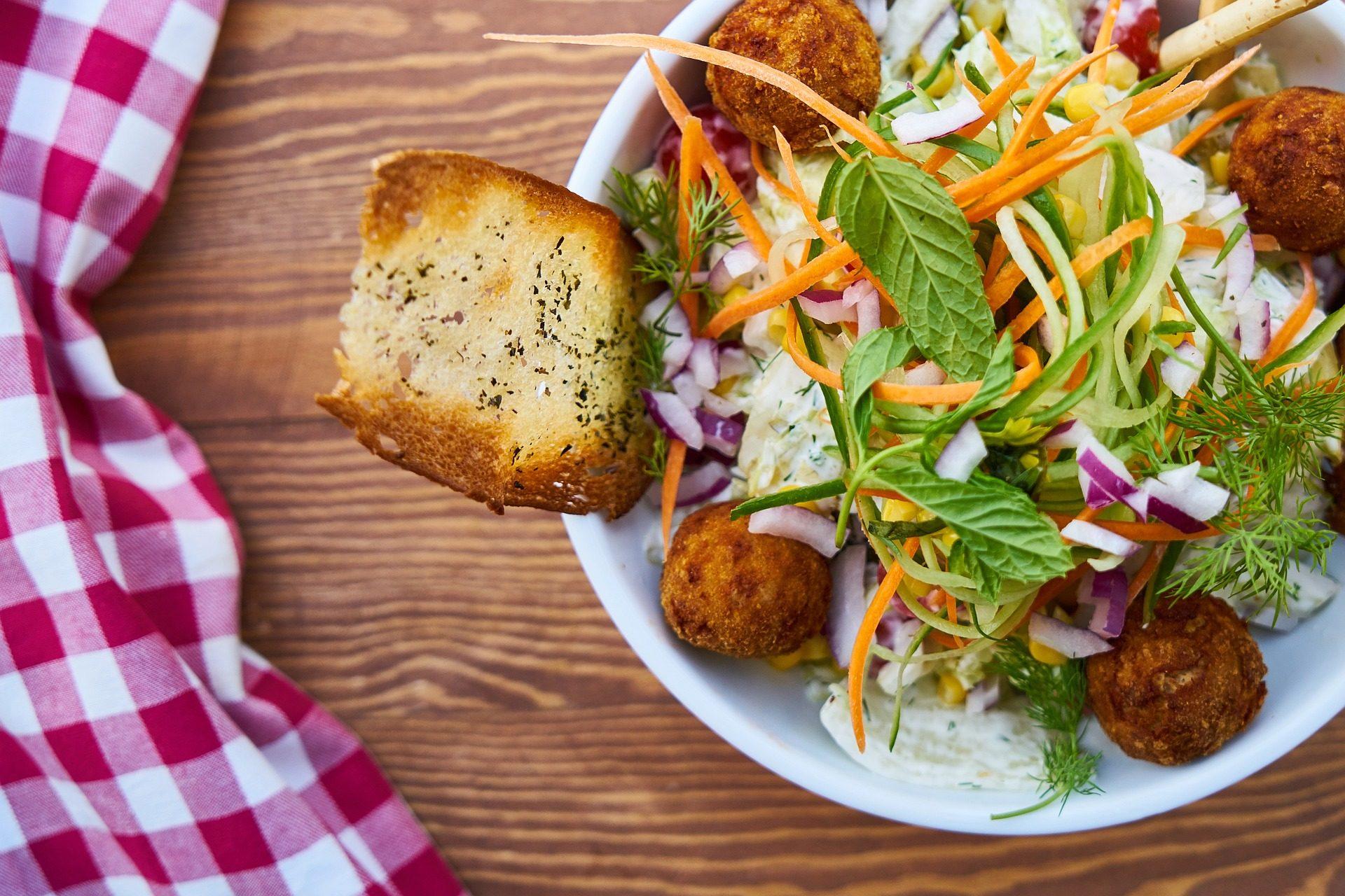Salada, pão, Cebola, cenoura, saudável - Papéis de parede HD - Professor-falken.com